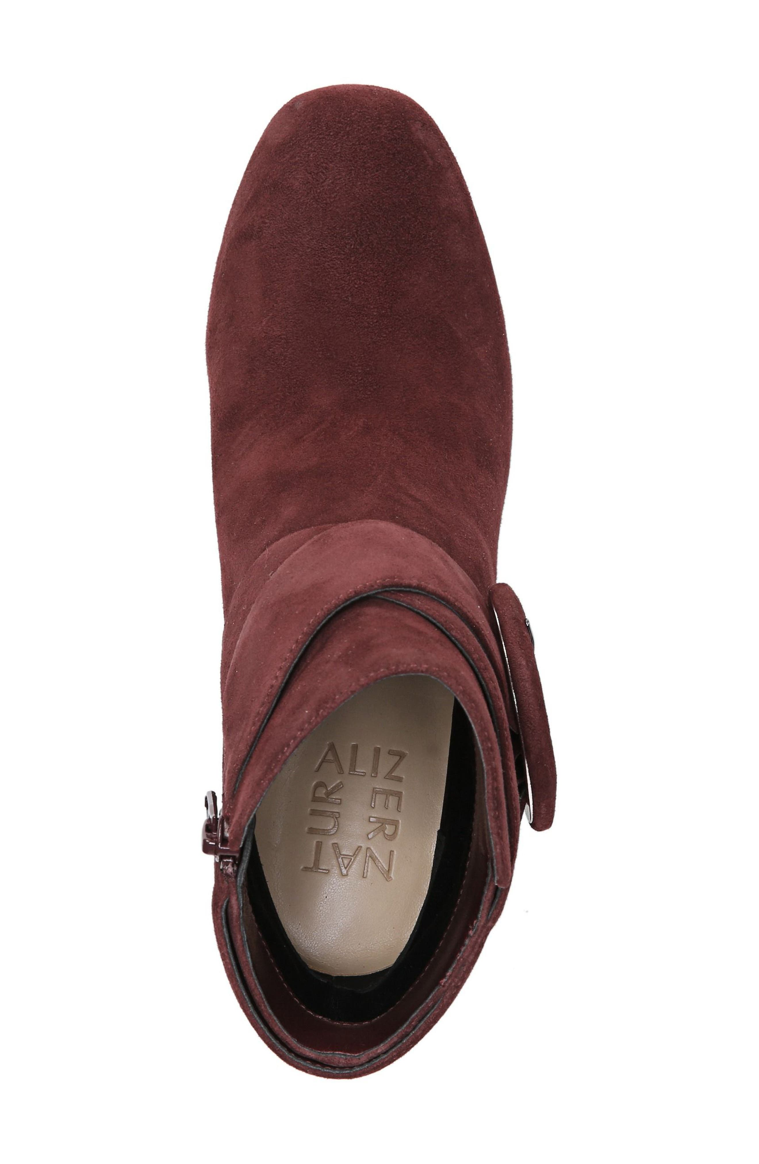 Nautralizer Rae Bootie,                             Alternate thumbnail 5, color,                             Bordo Leather