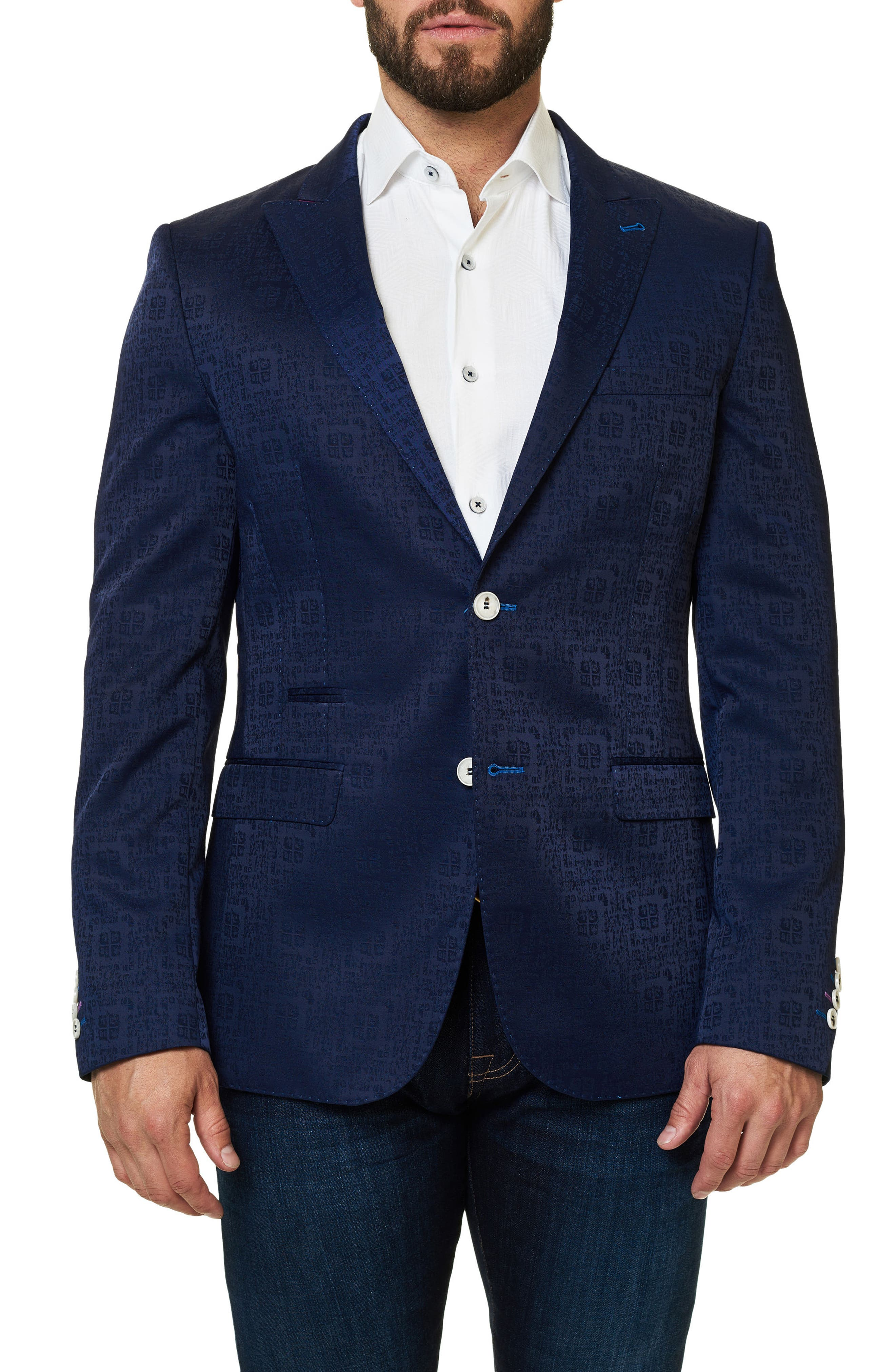 Main Image - Maceoo Elegance Jacquard Sport Coat
