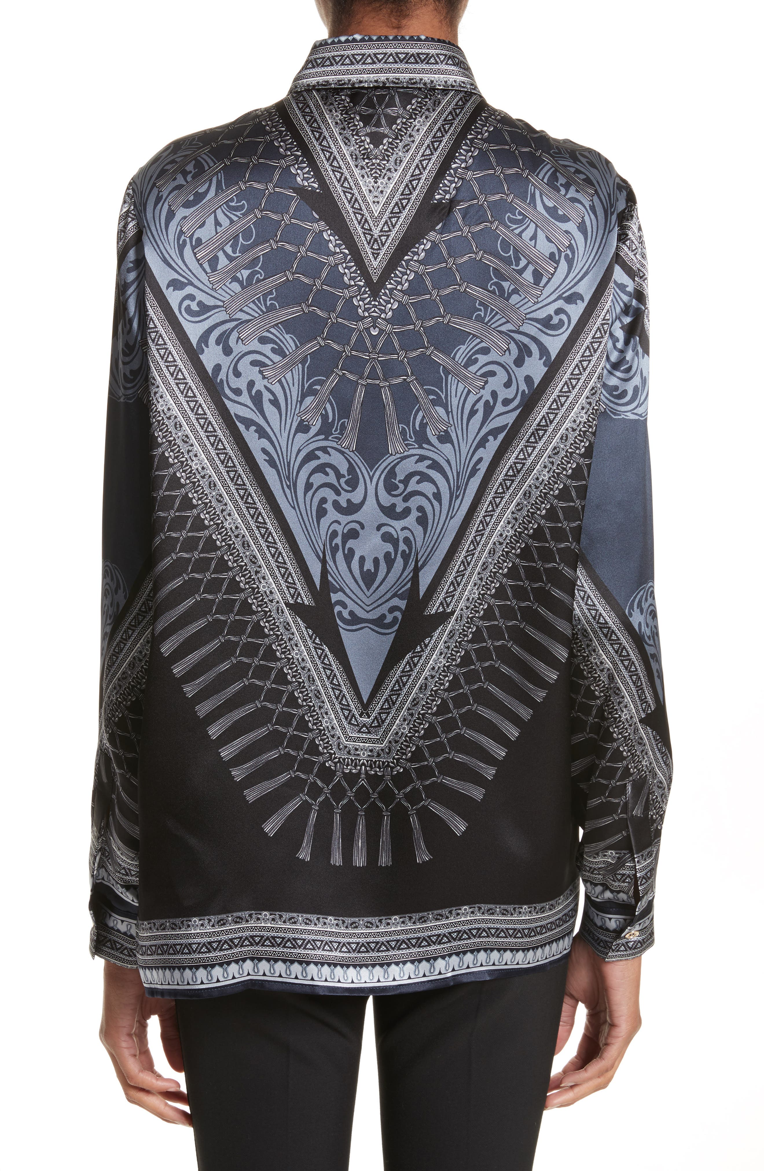 Alternate Image 2  - Versace Collection Scarf Print Silk Blouse