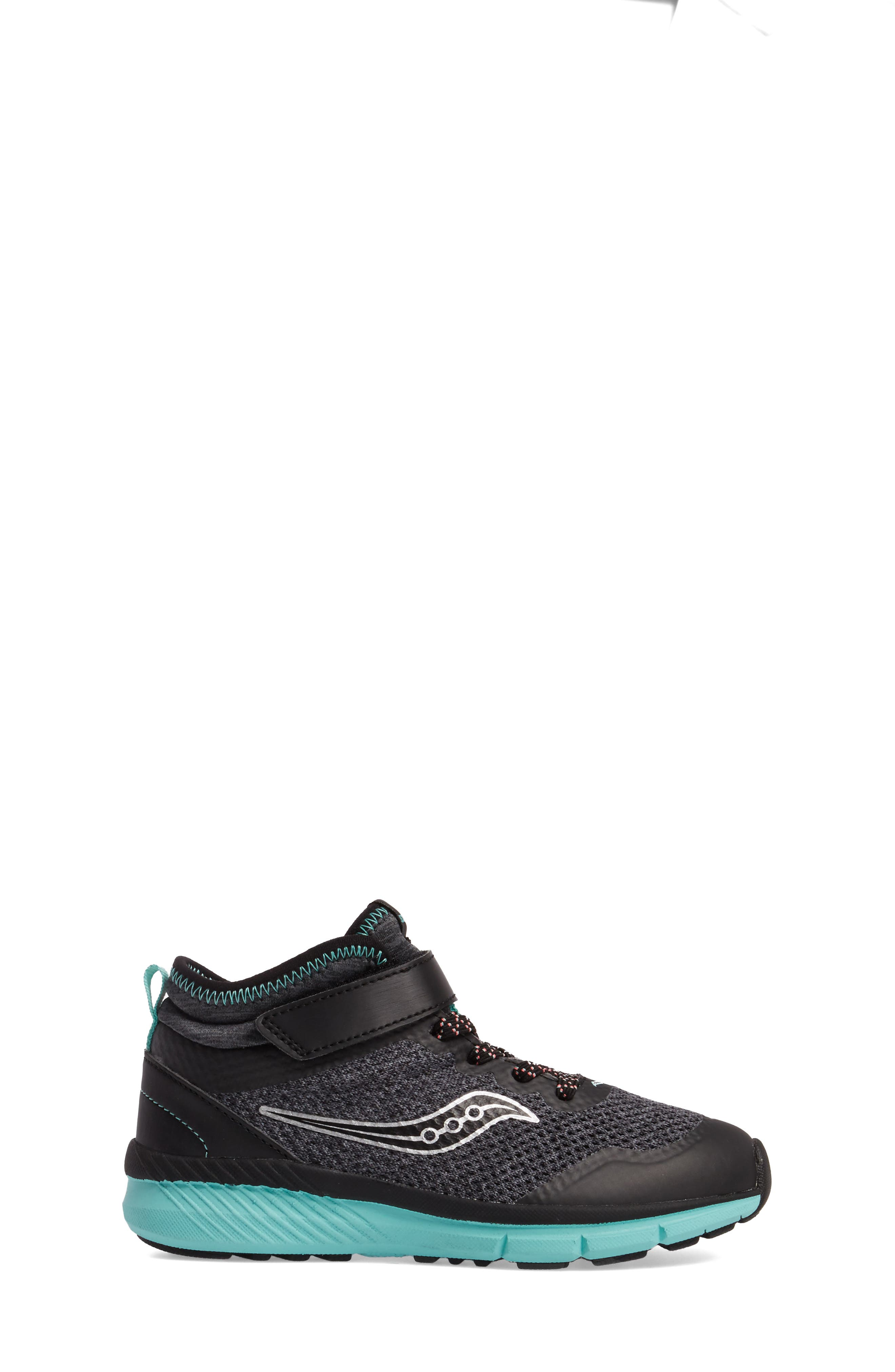 Ideal Sneaker,                             Alternate thumbnail 3, color,                             Black/ Turquoise