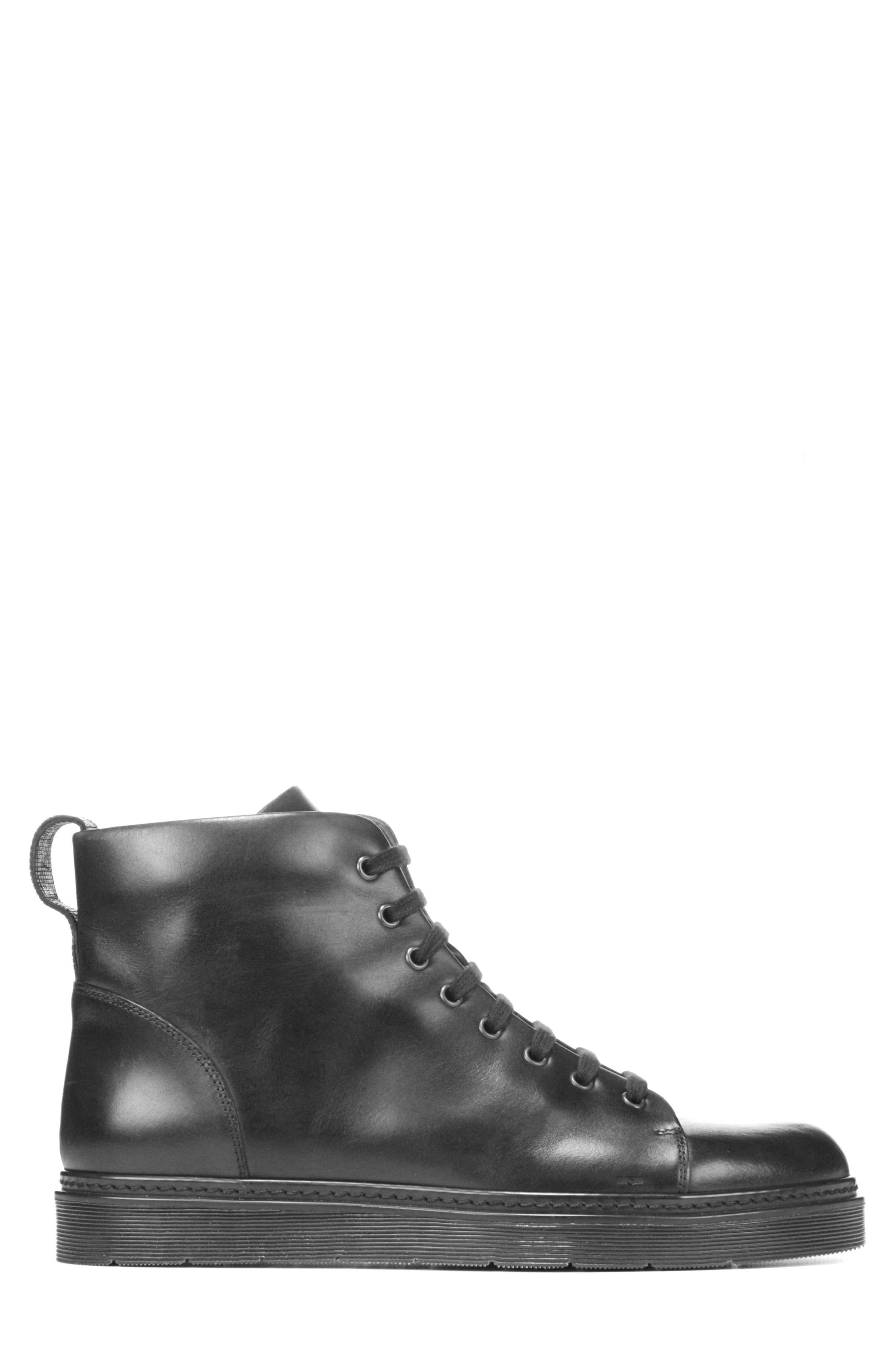 Malone Plain Toe Boot,                             Alternate thumbnail 3, color,                             Black
