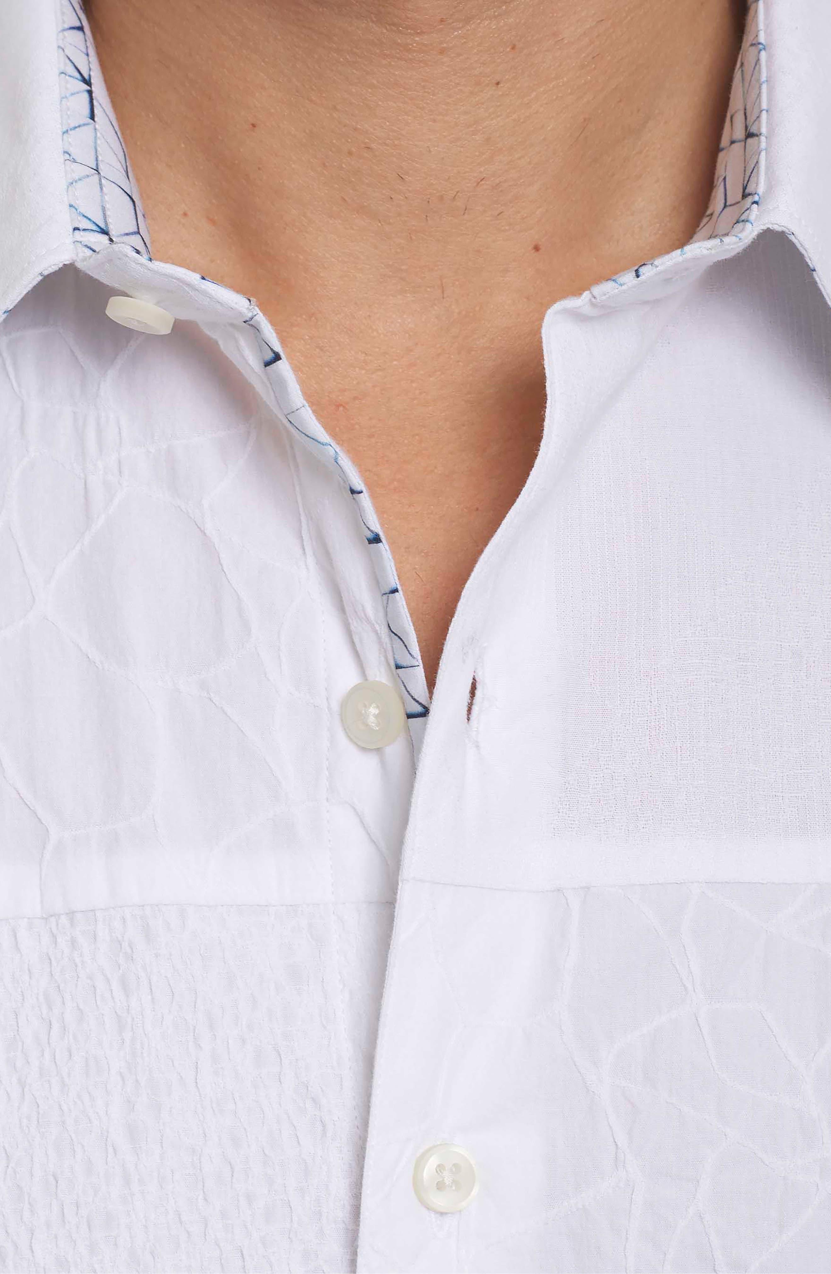 Duke Classic Fit Sport Shirt,                             Alternate thumbnail 3, color,                             White
