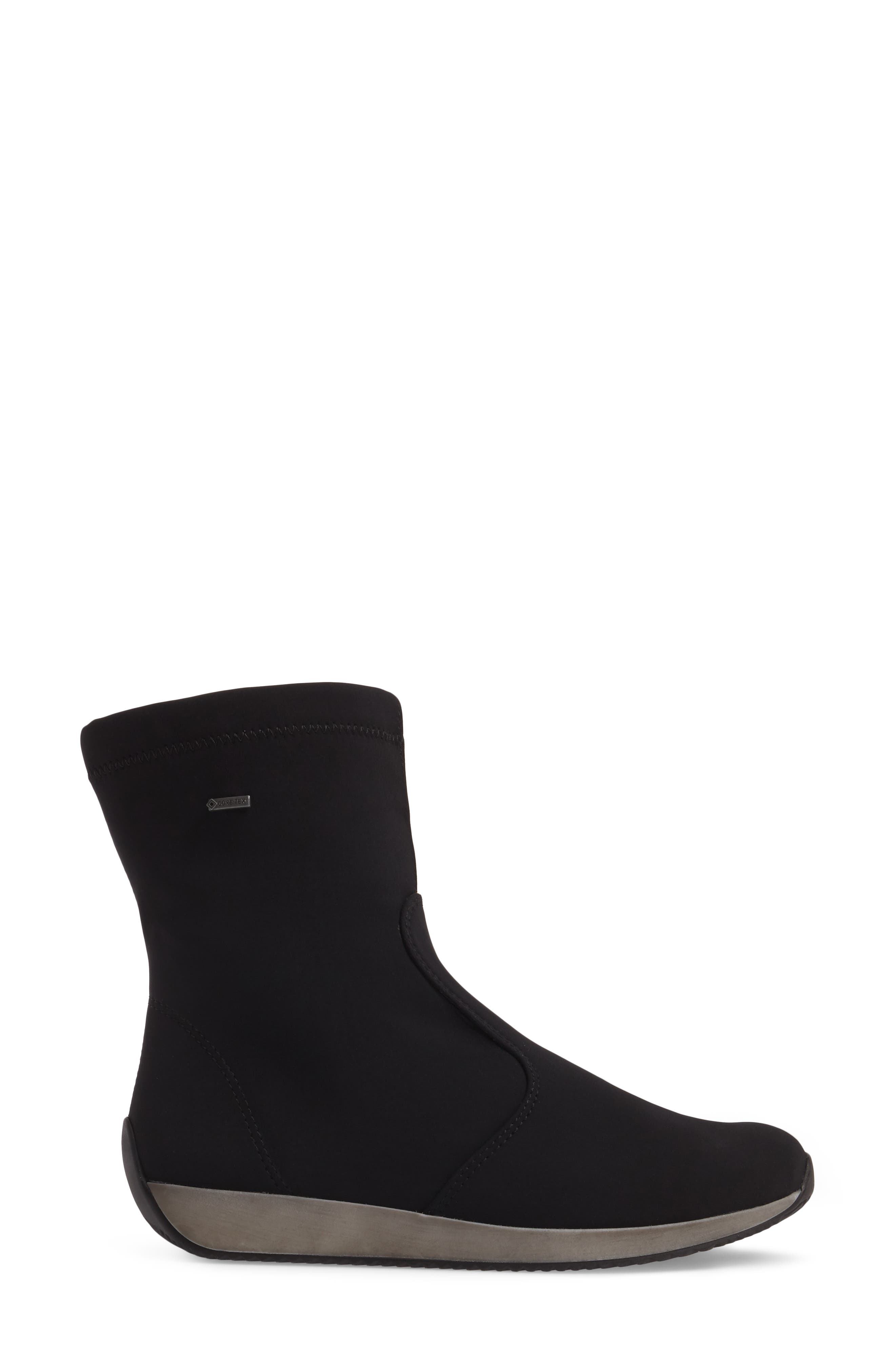 Luella Waterproof Gore-Tex<sup>®</sup> Boot,                             Alternate thumbnail 3, color,                             Black Textile