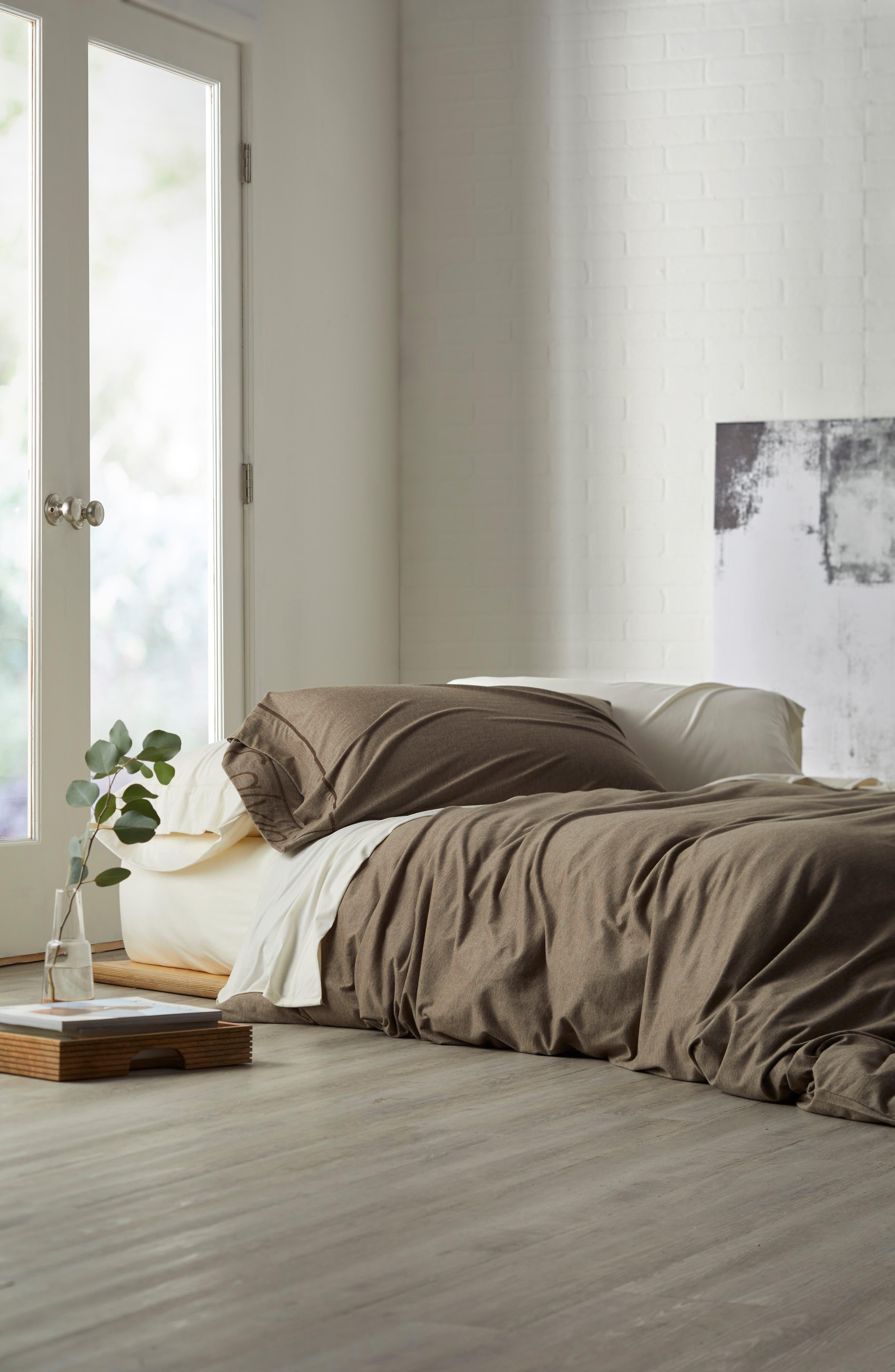 Alternate Image 2  - Calvin Klein Home Cotton & Modal Jersey Duvet Cover