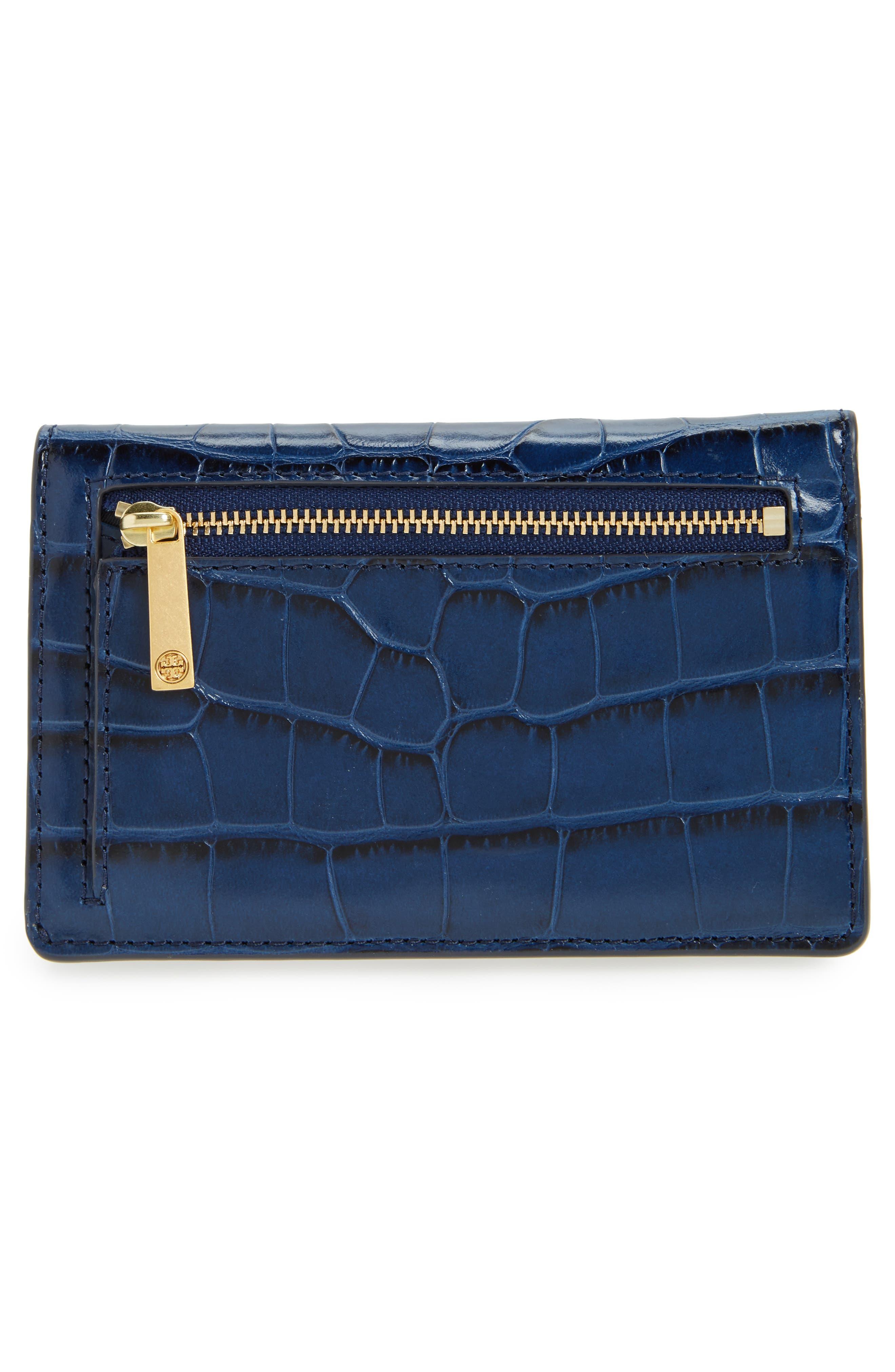 Alternate Image 3  - Tory Burch Parker Slim Croc Embossed Leather Wallet
