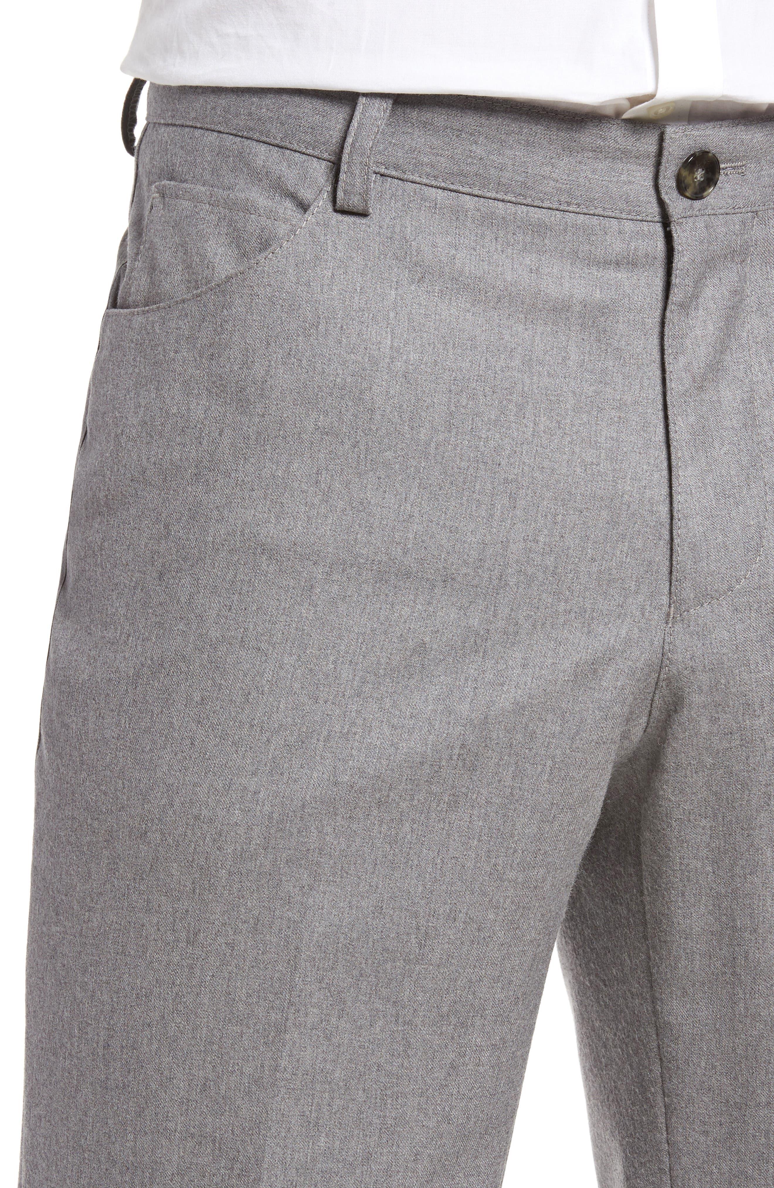 Alternate Image 5  - BOSS Gaetano Regular Fit Wool Trousers