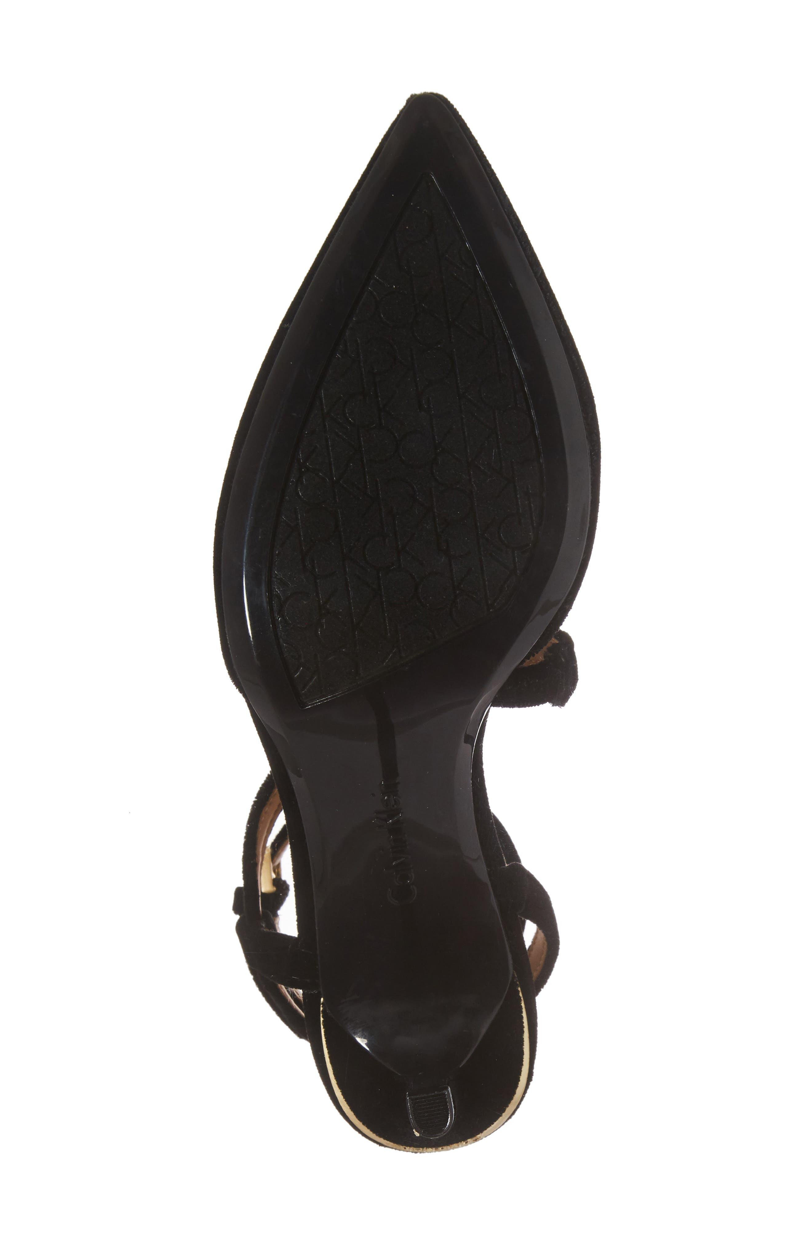 Ganya Strappy Pump,                             Alternate thumbnail 6, color,                             Black Velvet