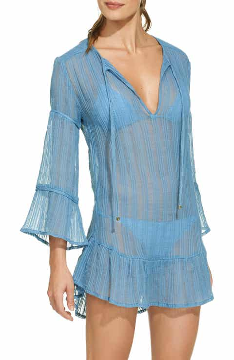 ViX Swimwear Ruffle Cloud Cover-Up Tunic