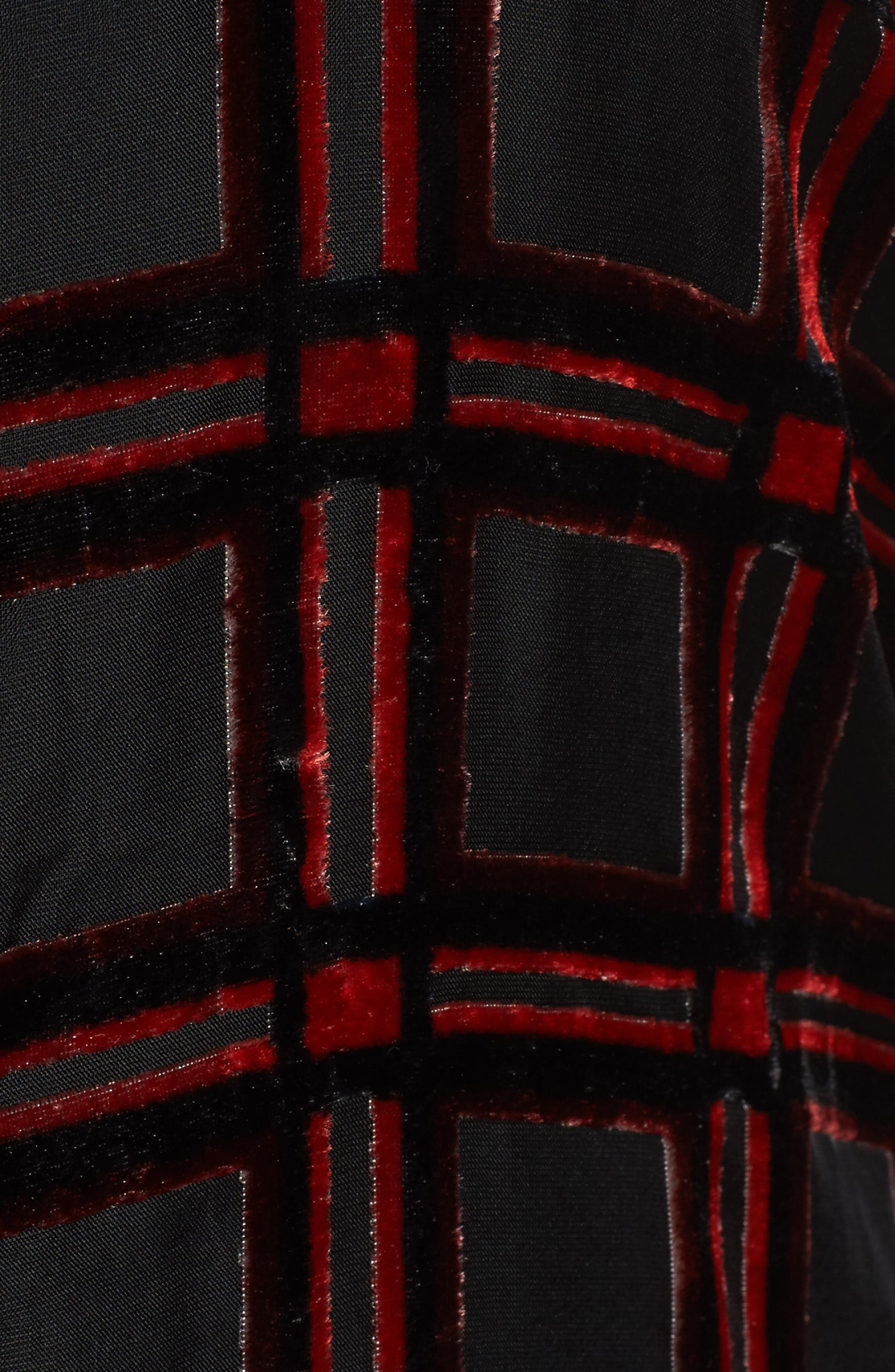 Jade Burnout Tartan Shirt,                             Alternate thumbnail 5, color,                             Red Multi