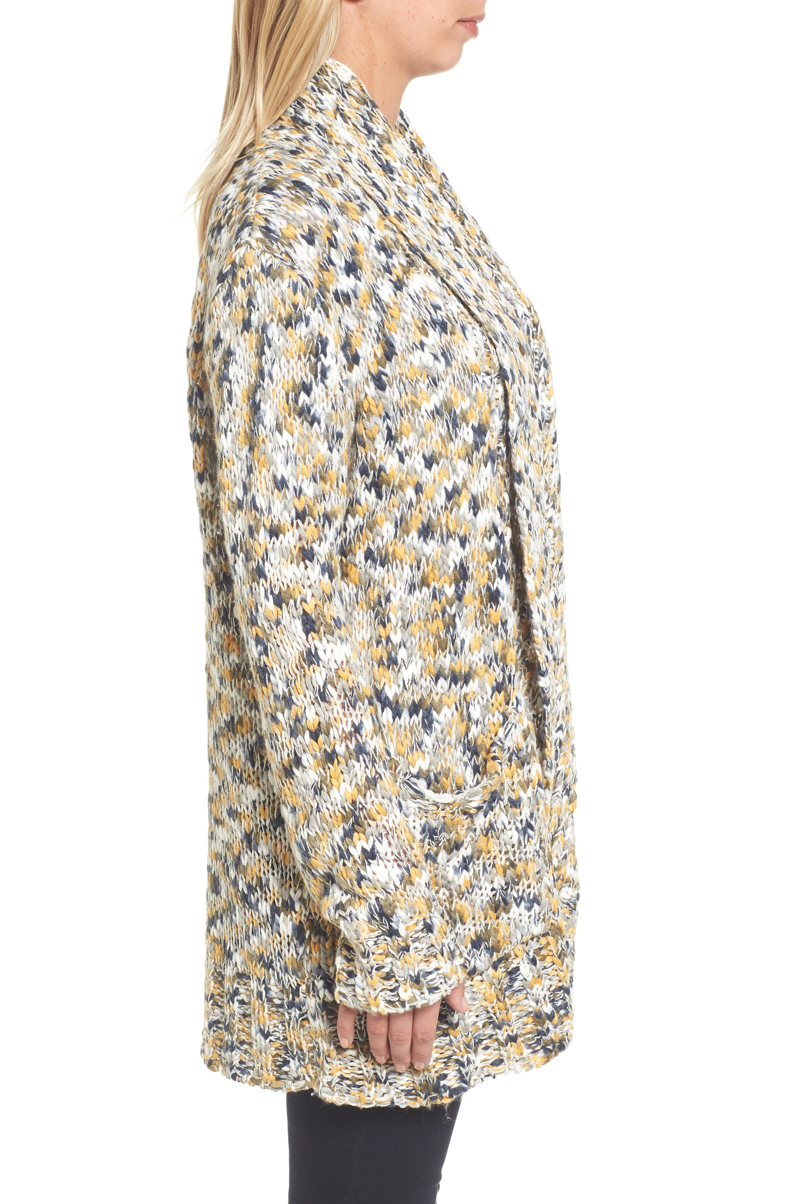 Alternate Image 5  - Press Confetti Knit Shawl Collar Sweater