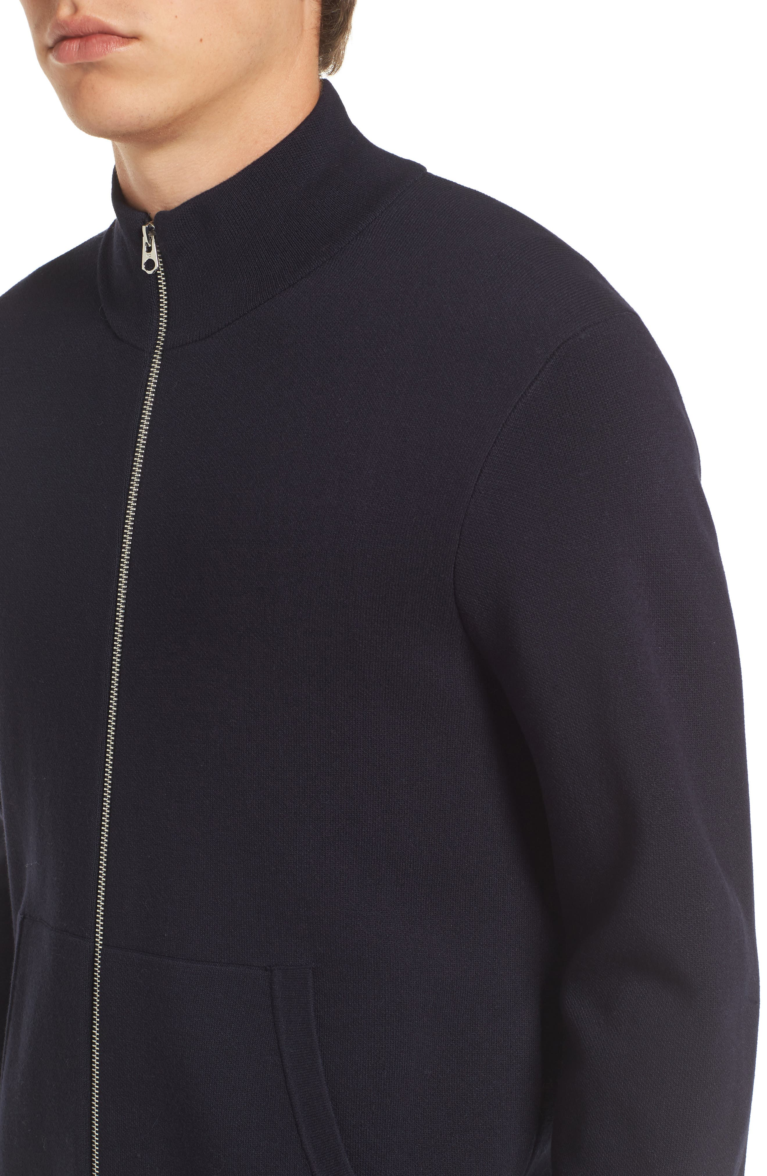 Lakra Zip-Up Sweater,                             Alternate thumbnail 4, color,                             Marine Blue