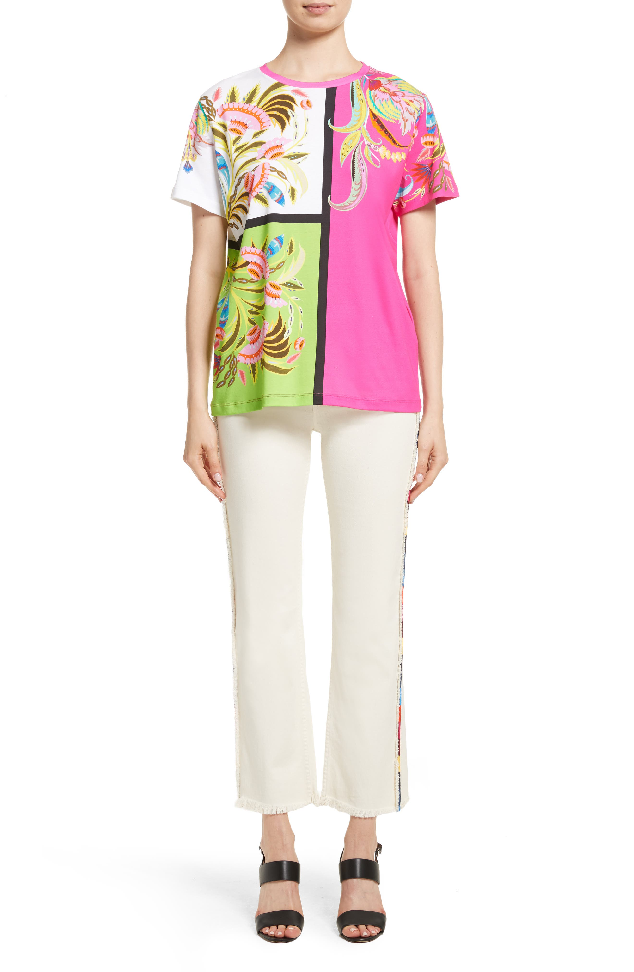 Alternate Image 8  - Etro Embroidered Piping Crop Jeans