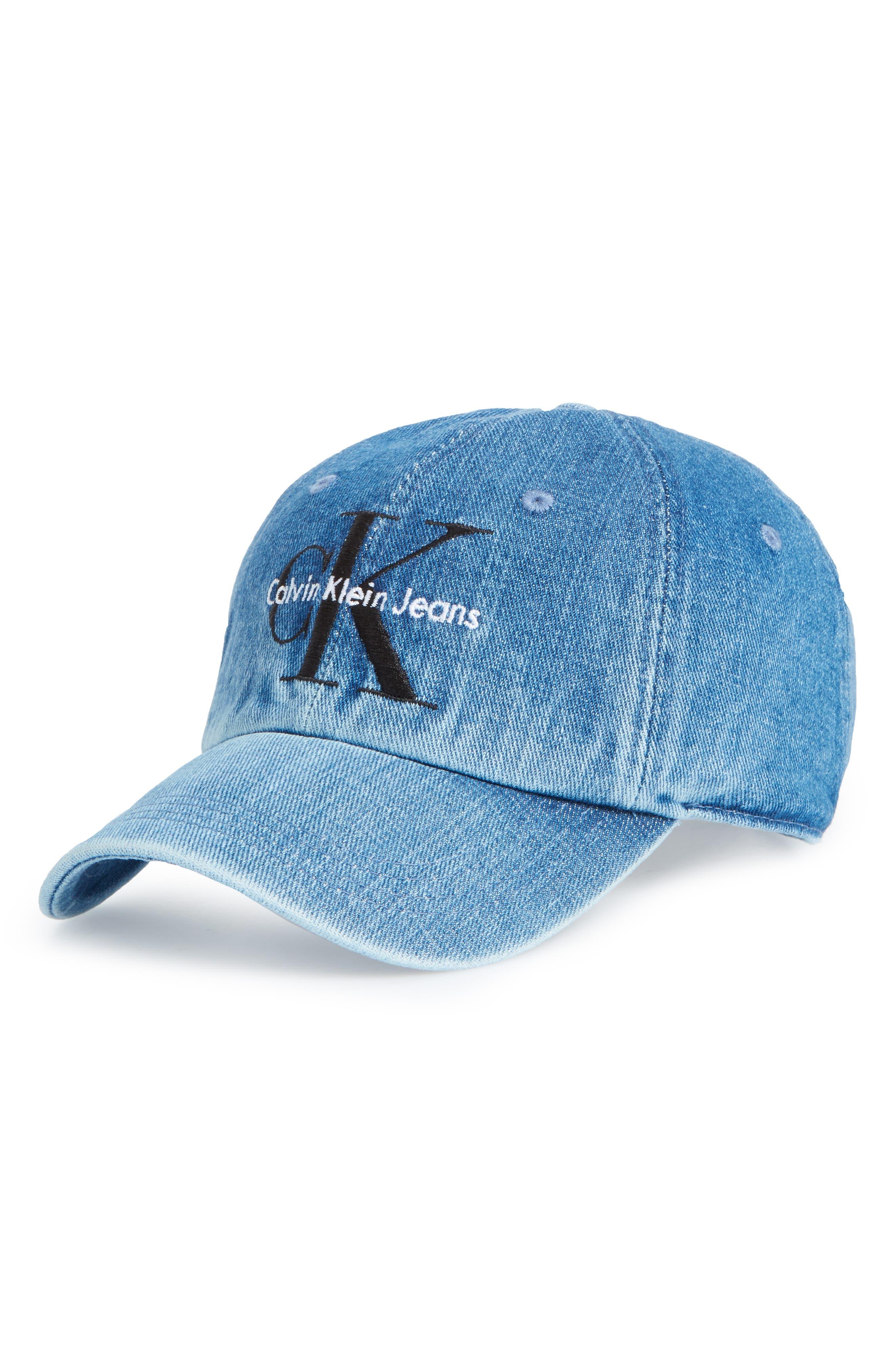Calvin Klein CK Jeans Ball Cap,                             Main thumbnail 1, color,                             Stone Wash