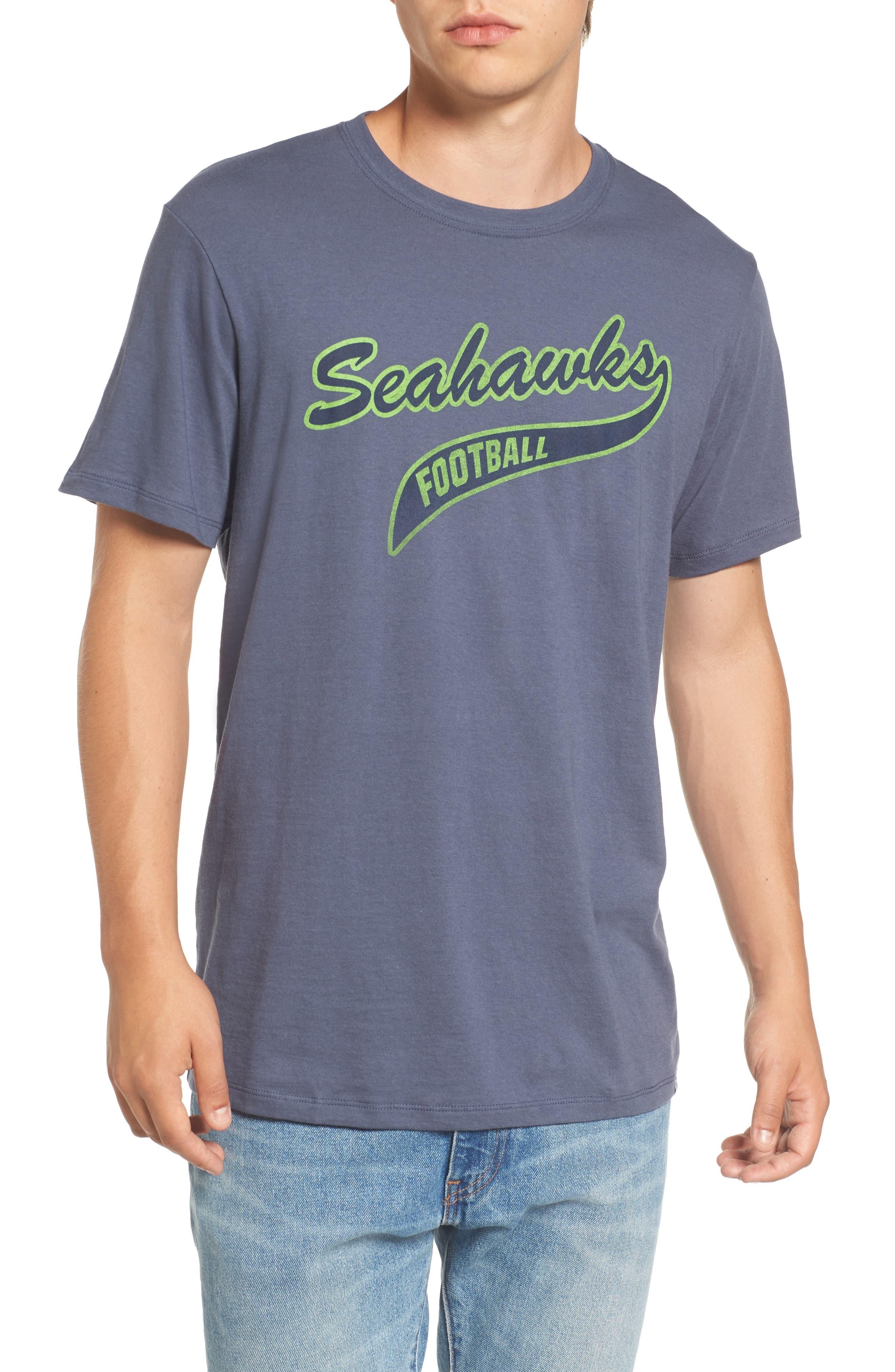 Seattle Seahawks Borderland T-Shirt,                             Main thumbnail 1, color,                             Navy