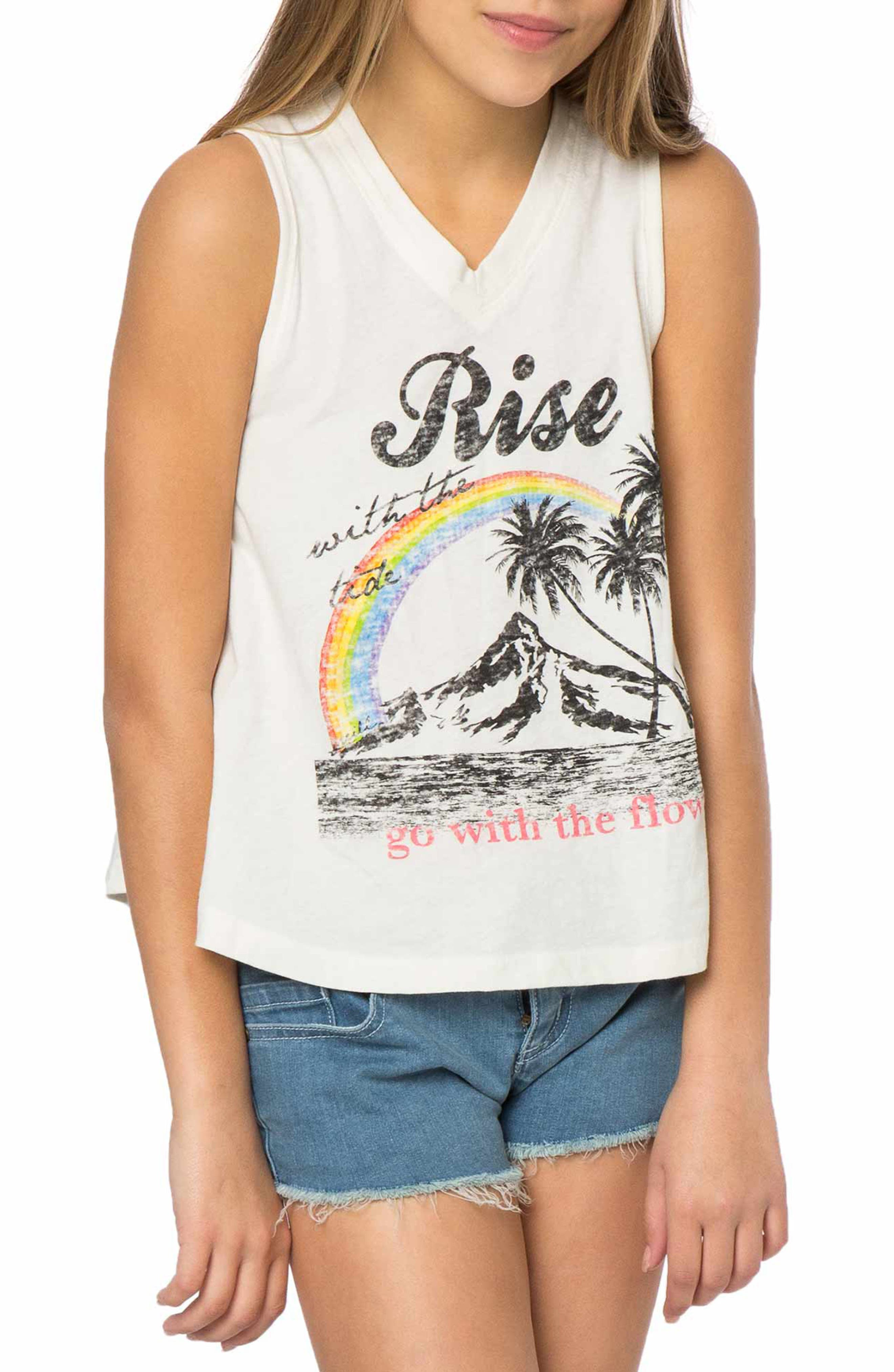 O'Neill Rise With the Tide Graphic Print Tank (Big Girls)