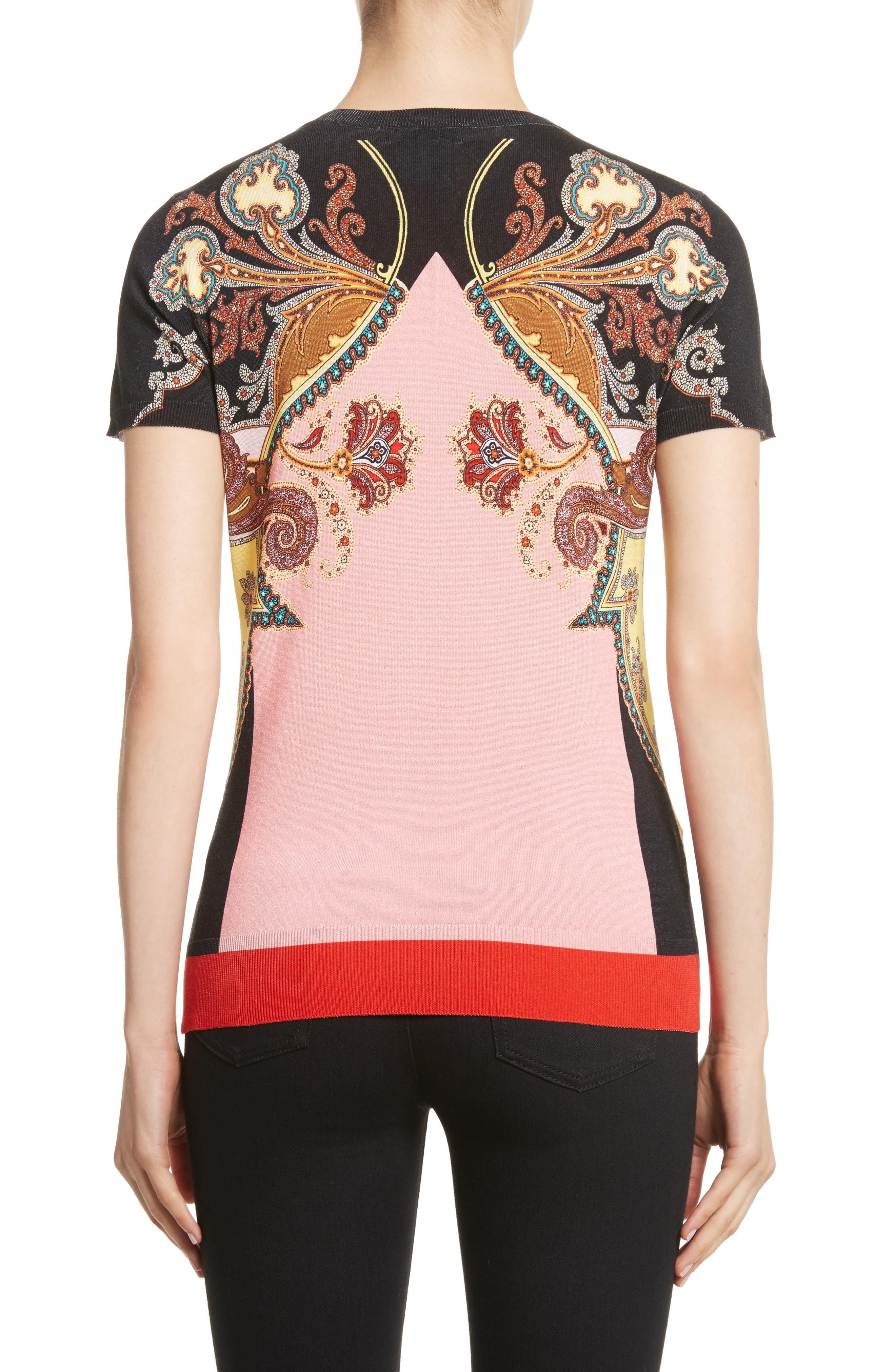 Alternate Image 2  - Etro Leopard Paisley Print Stretch Silk Sweater