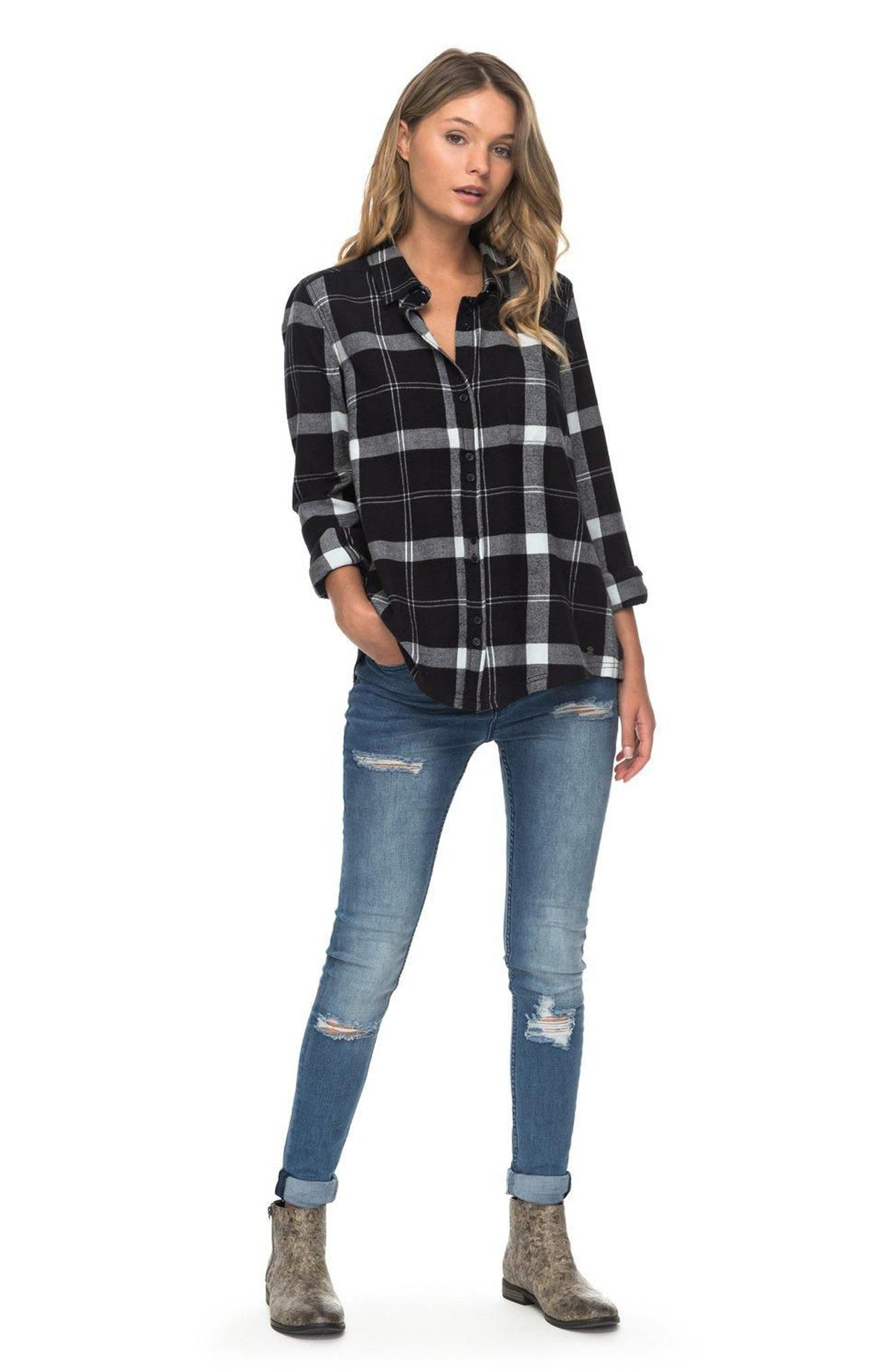 Heavy Feelings Plaid Cotton Shirt,                             Alternate thumbnail 2, color,                             Checked Plaid Combo Anthracite