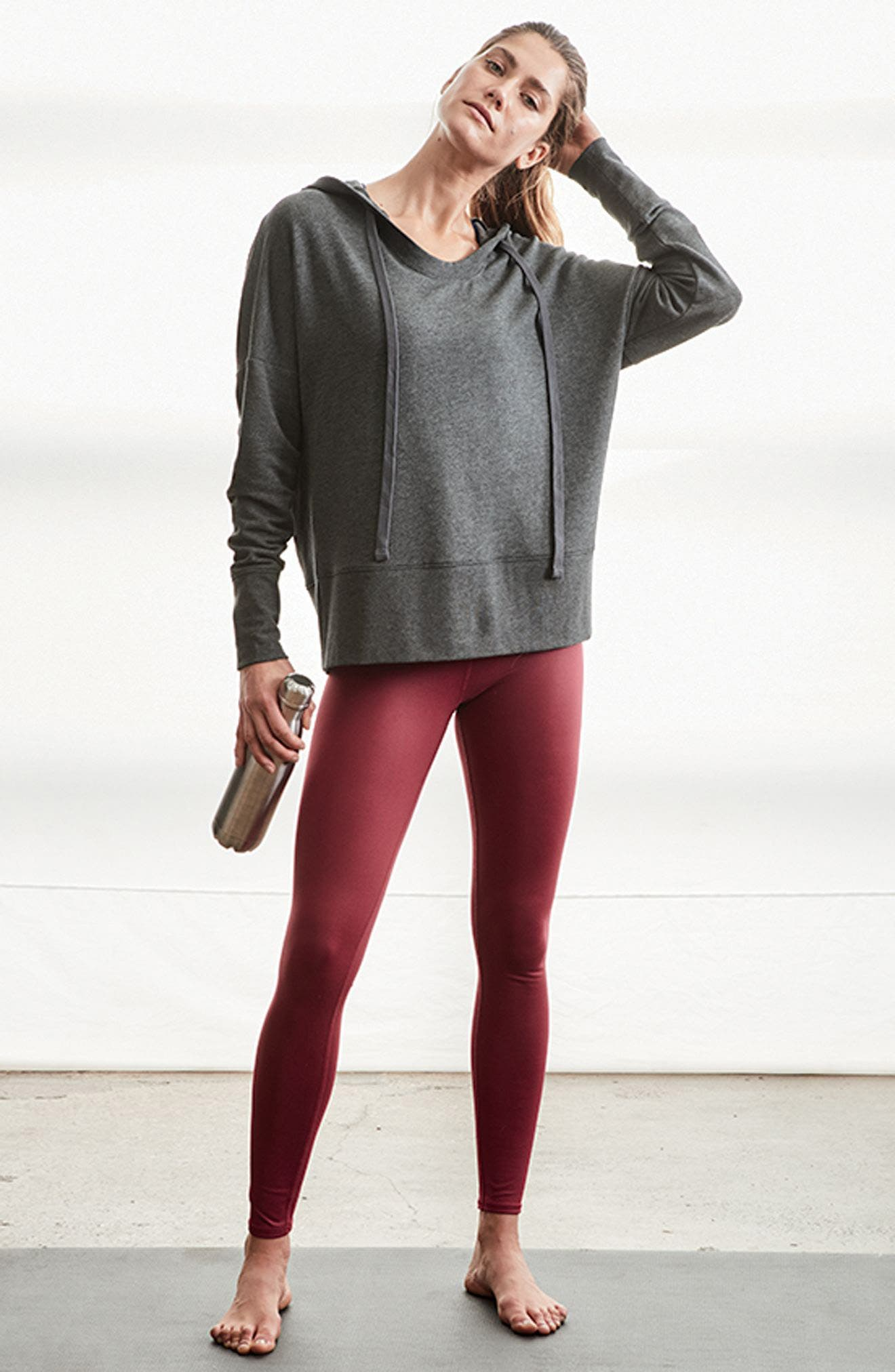 Alo Hoodie & Leggings Outfit with Accessories