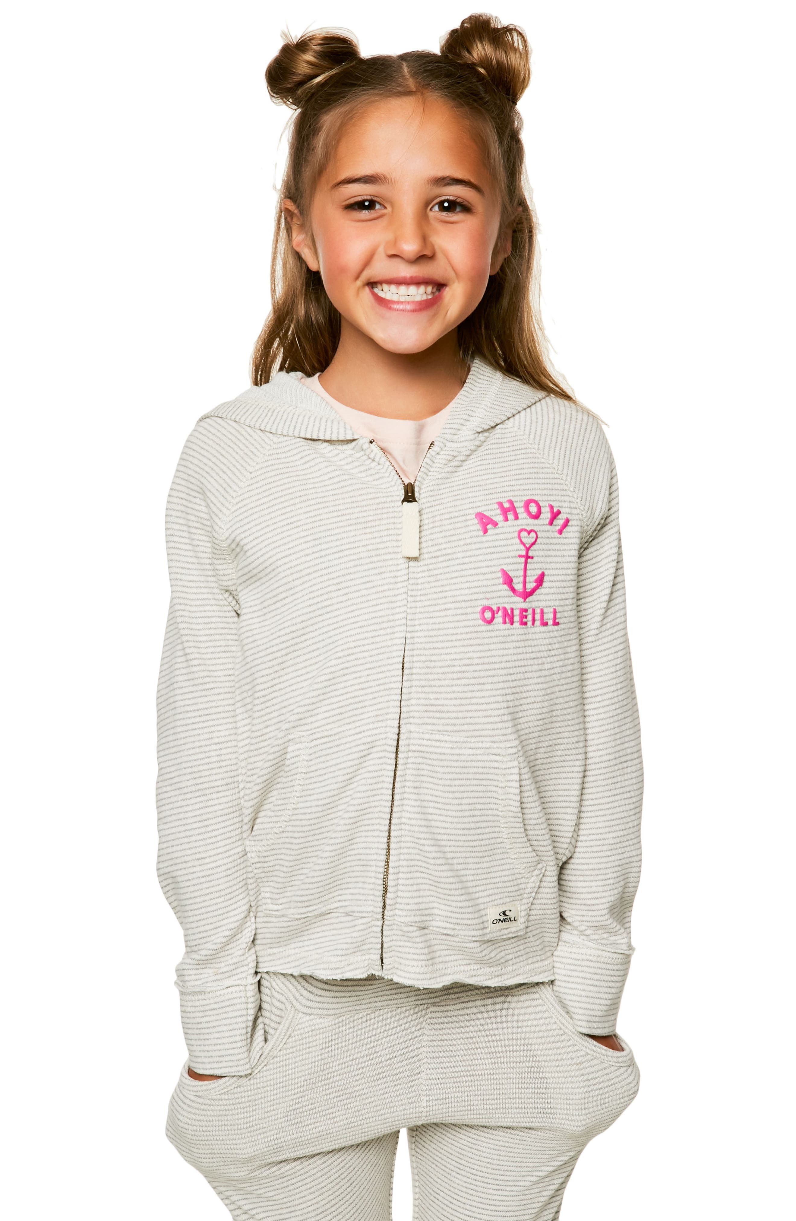 Shore French Terry Hoodie,                             Alternate thumbnail 4, color,                             Grey - Gry