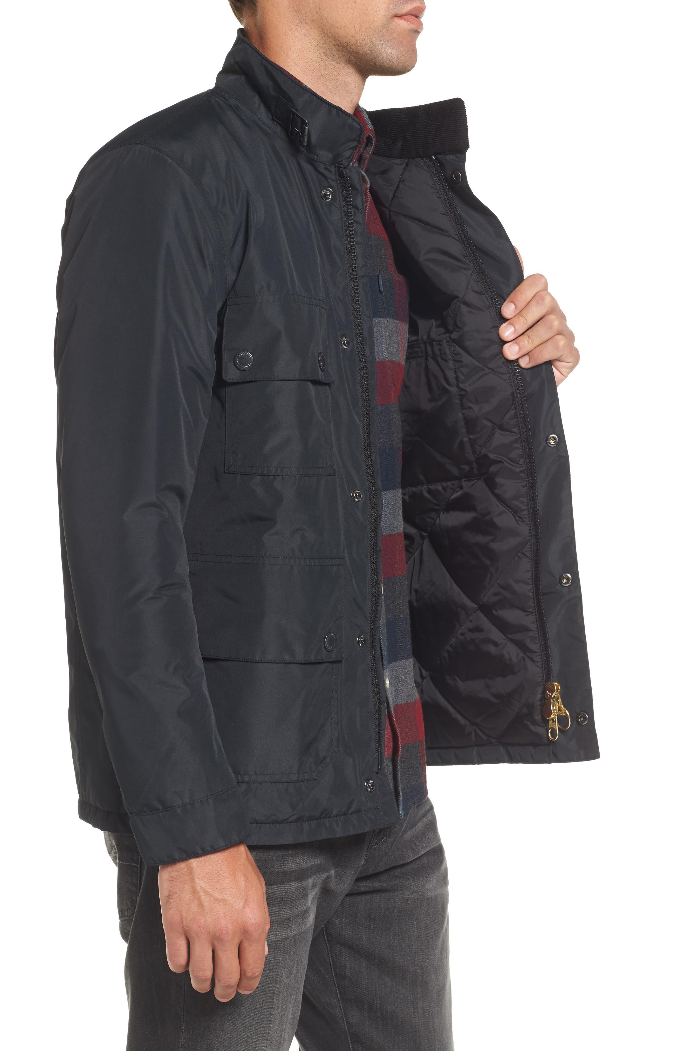 B.Intl Tyne Waterproof Jacket,                             Alternate thumbnail 3, color,                             Black
