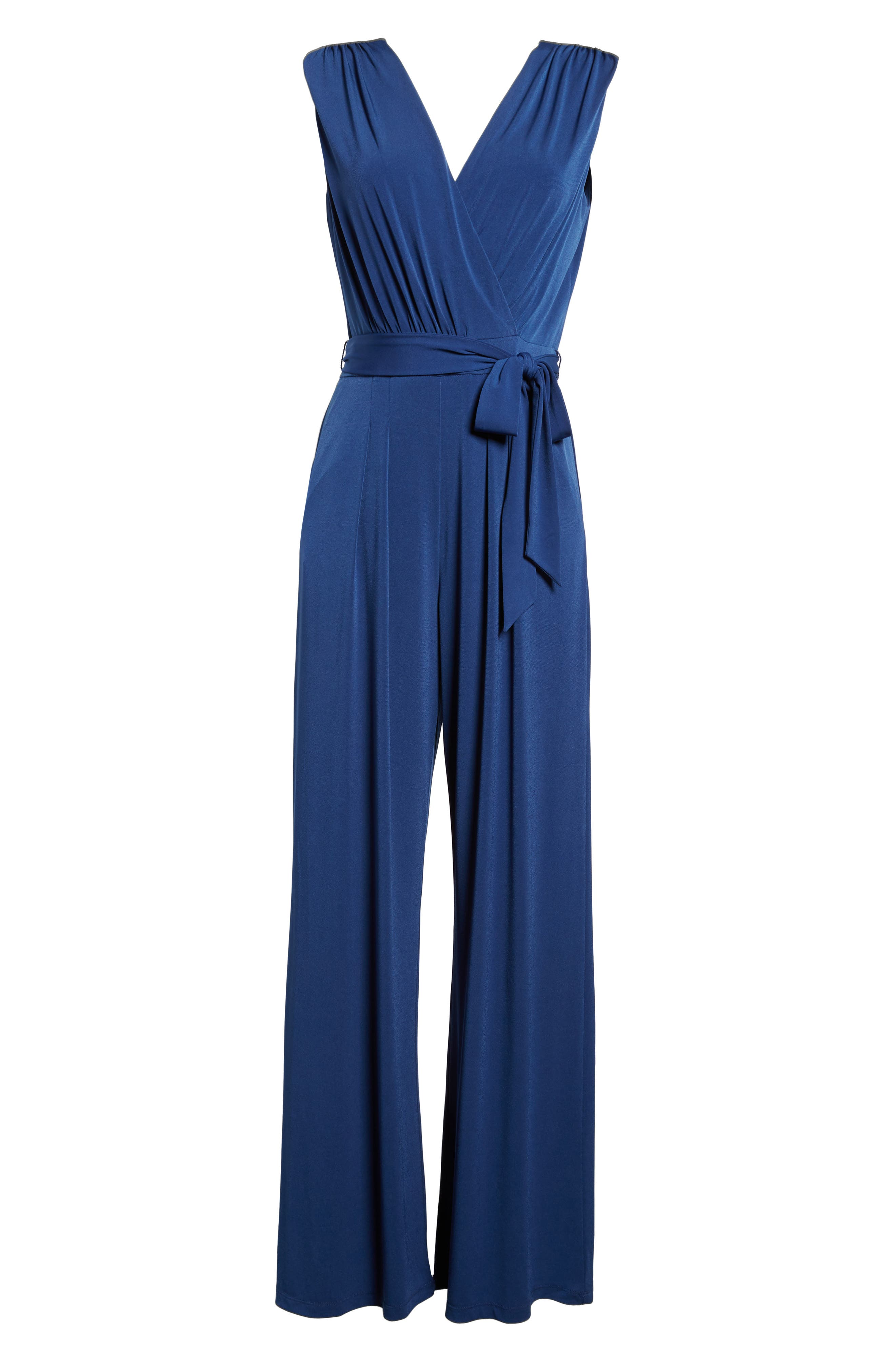 Alternate Image 6  - Vince Camuto Faux Wrap Jersey Jumpsuit