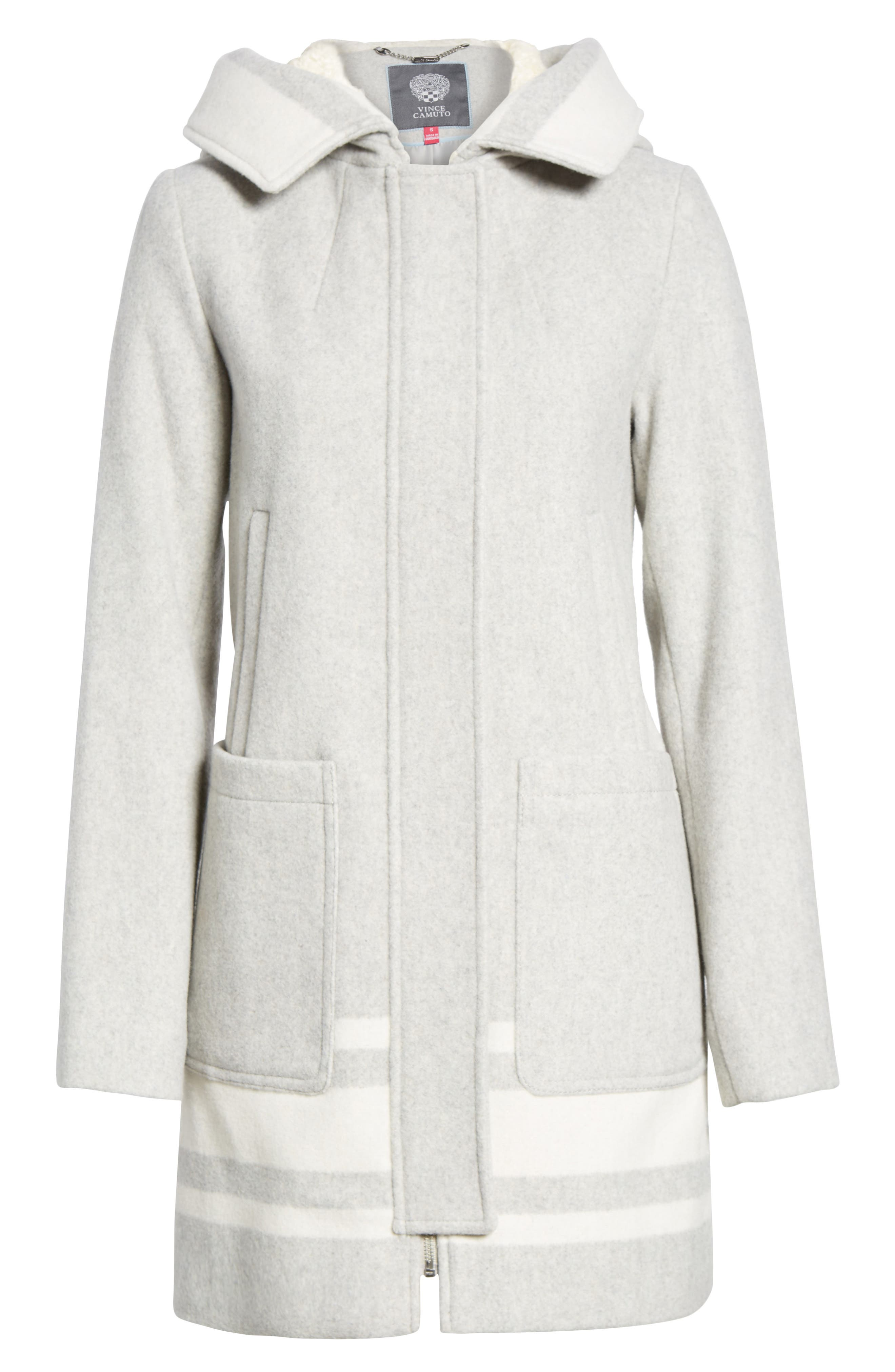 Alternate Image 6  - Vince Camuto Hooded Car Coat