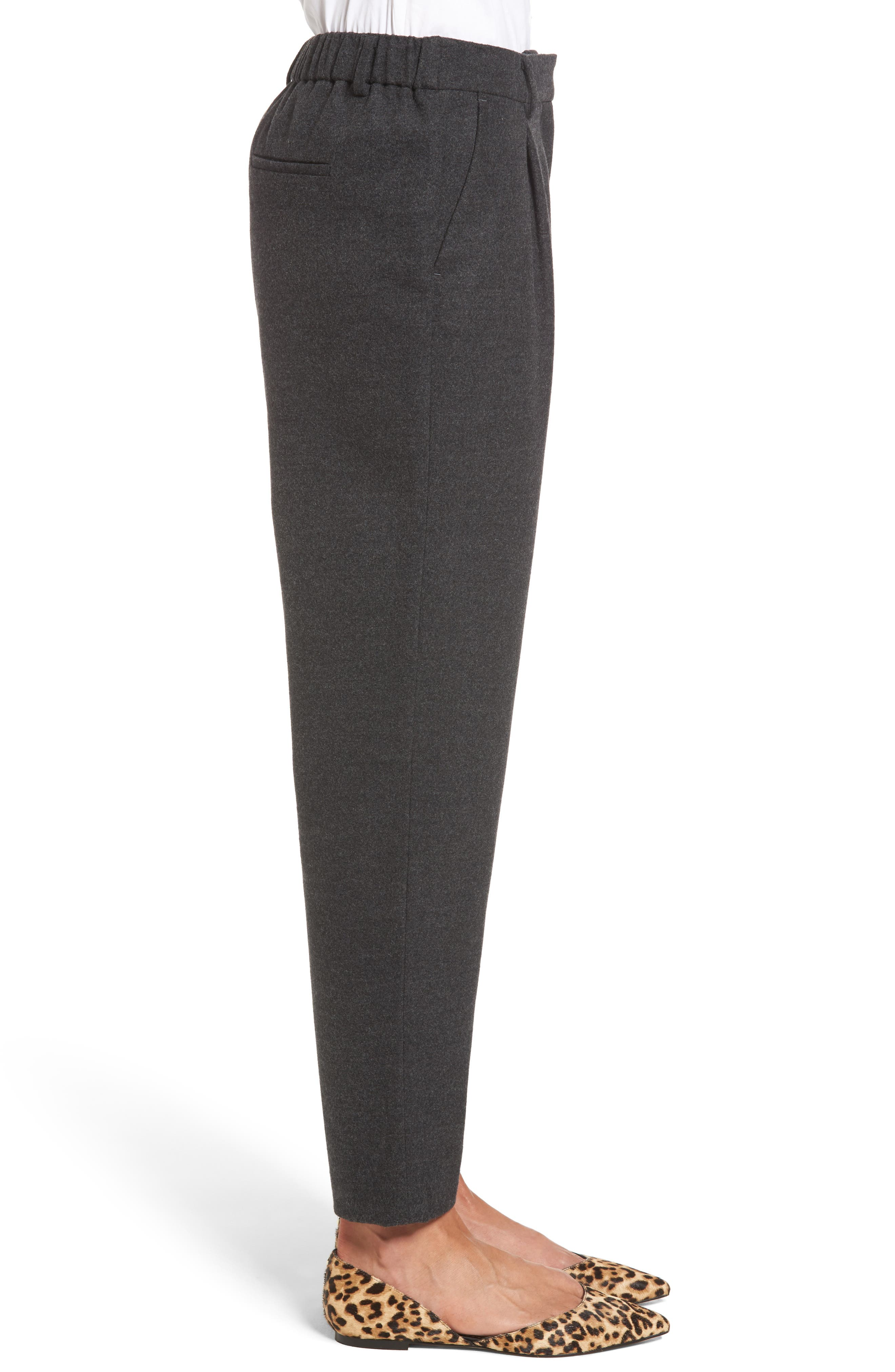 Relaxed Ankle Pants,                             Alternate thumbnail 3, color,                             Heather Grey