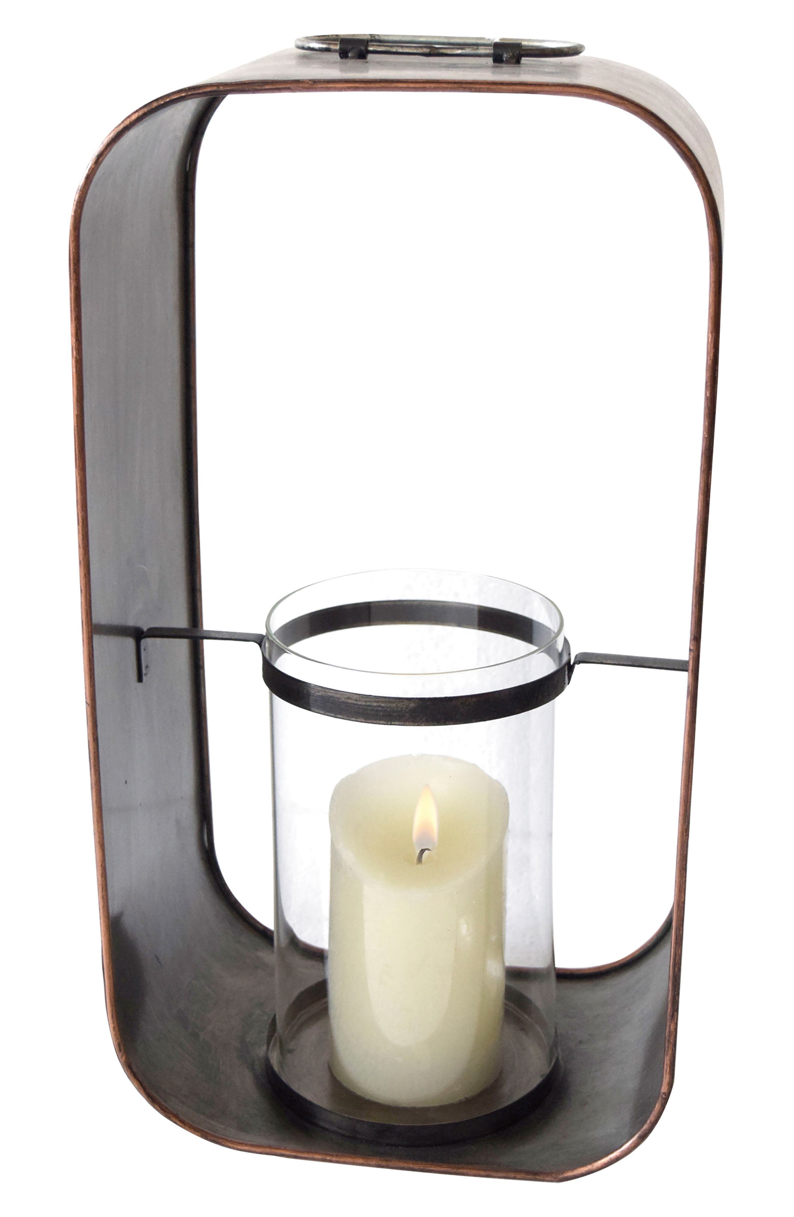 Barn Votive Candle Holder,                         Main,                         color, Metal/ Glass