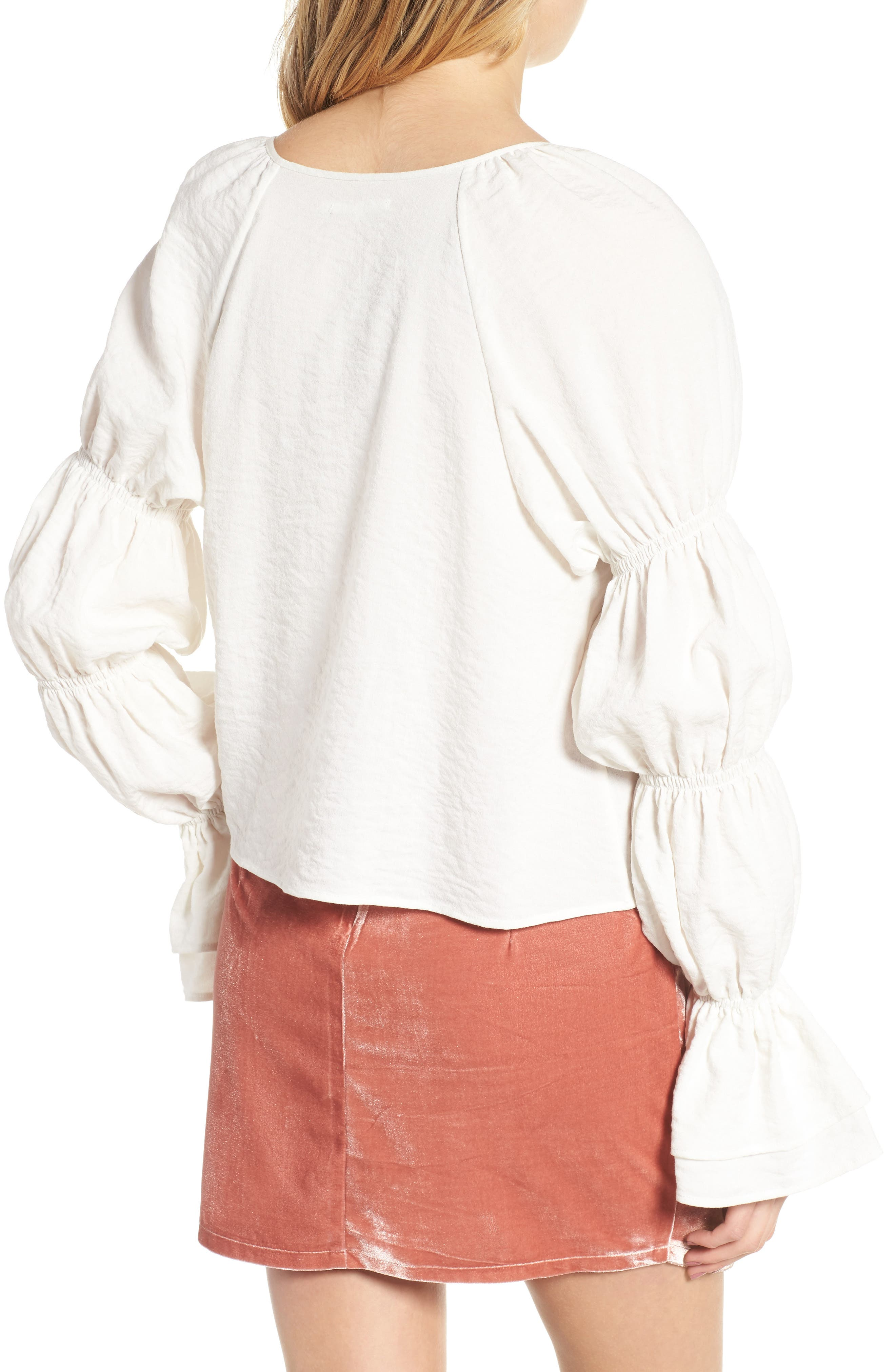 East Puff Sleeve Top,                             Alternate thumbnail 2, color,                             Ivory