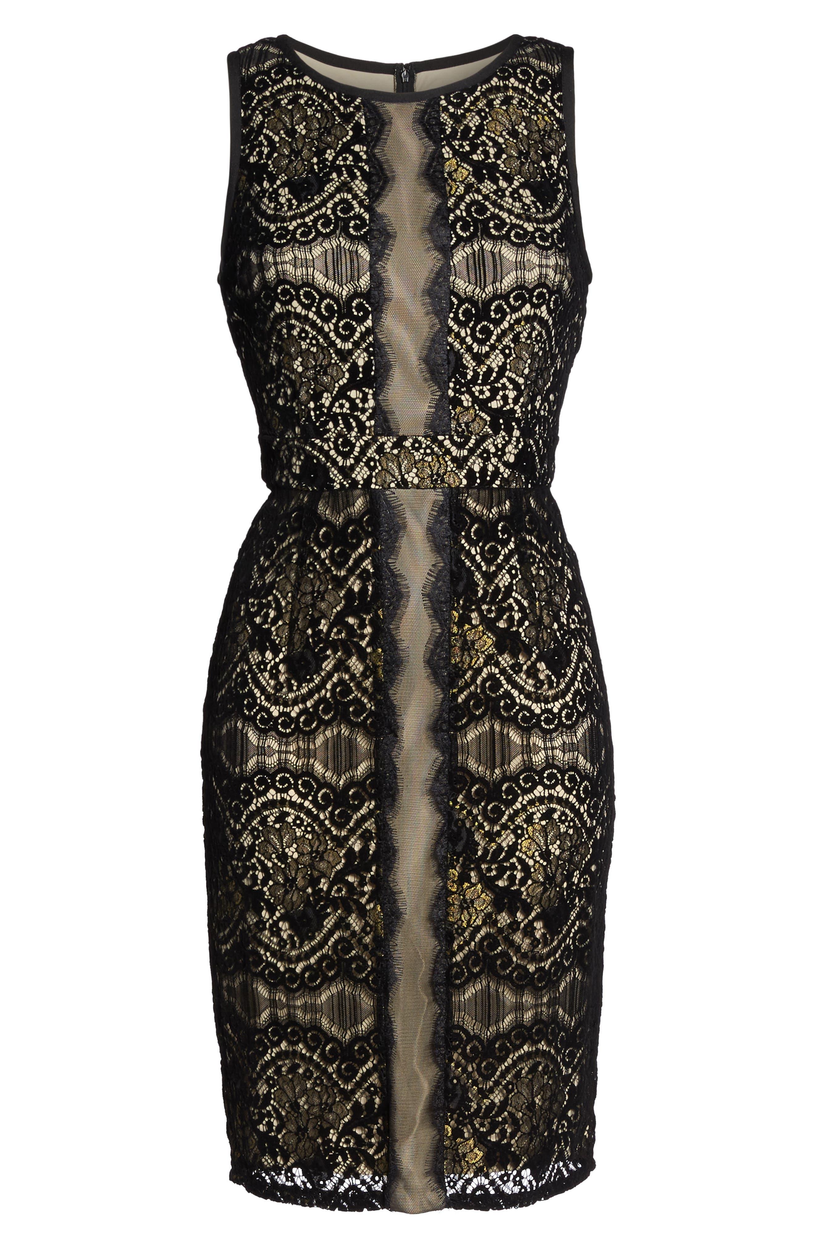 Alternate Image 6  - Adrianna Papell Lace Sheath Dress (Regular & Petite)