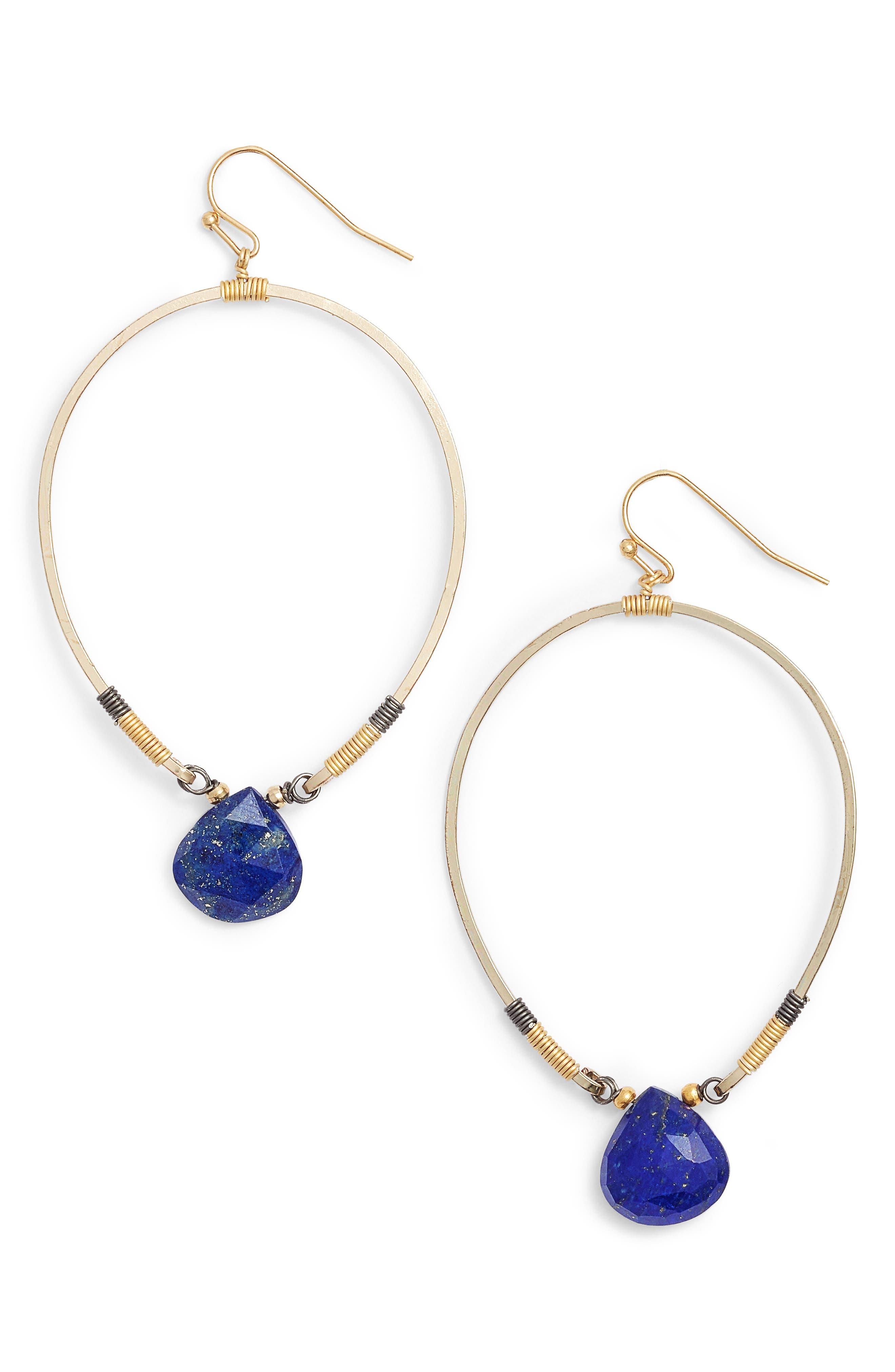 Nakamol Design Tiny Lapis Drop Earrings