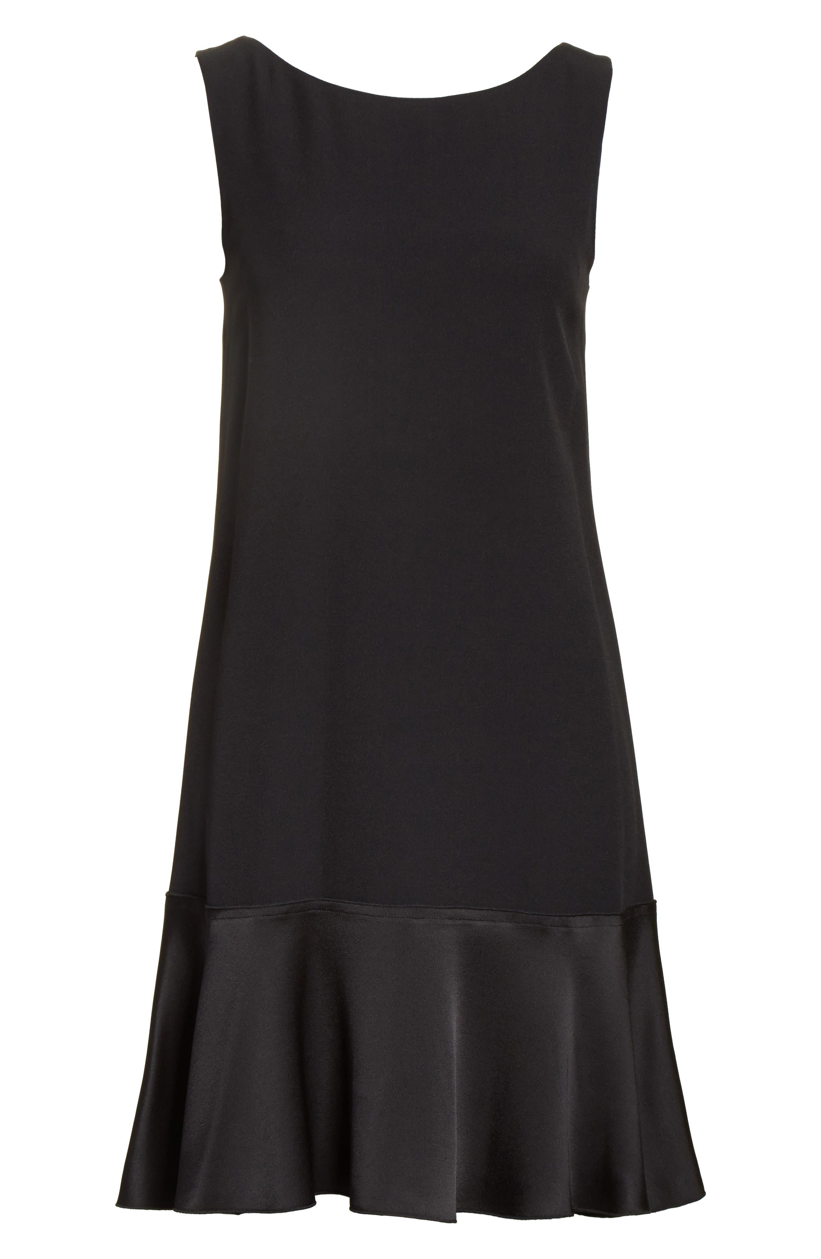 Kensington Flirty Flare Dress,                             Alternate thumbnail 6, color,                             Black