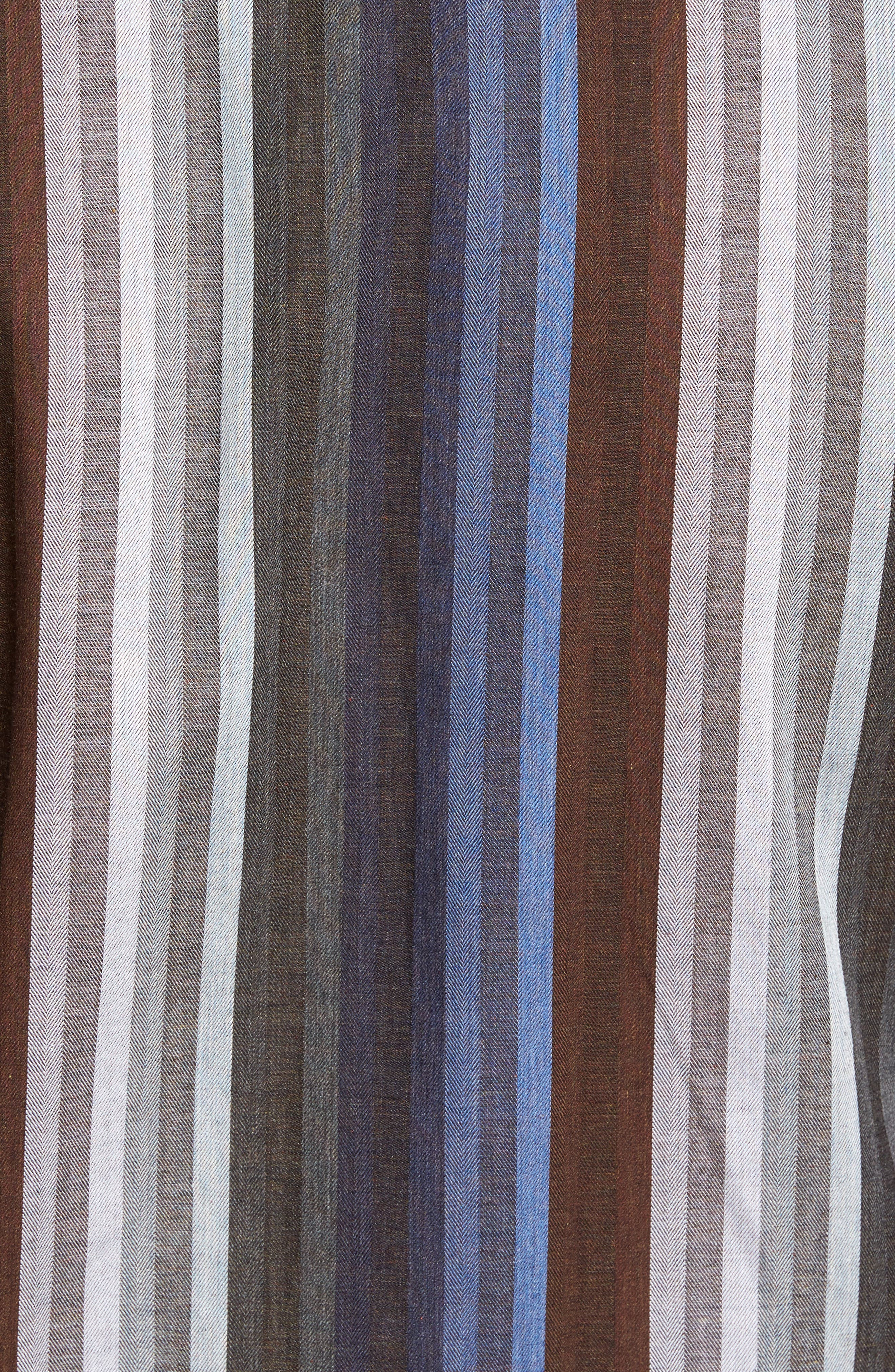 Alternate Image 5  - Thomas Dean Regular Fit Multicolor Stripe Herringbone Sport Shirt