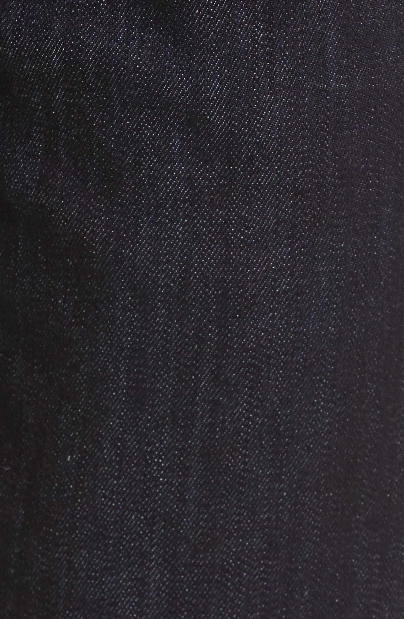 Alternate Image 5  - Fidelity Denim Jimmy Slim Straight Leg Jeans (Galaxy Rinse)