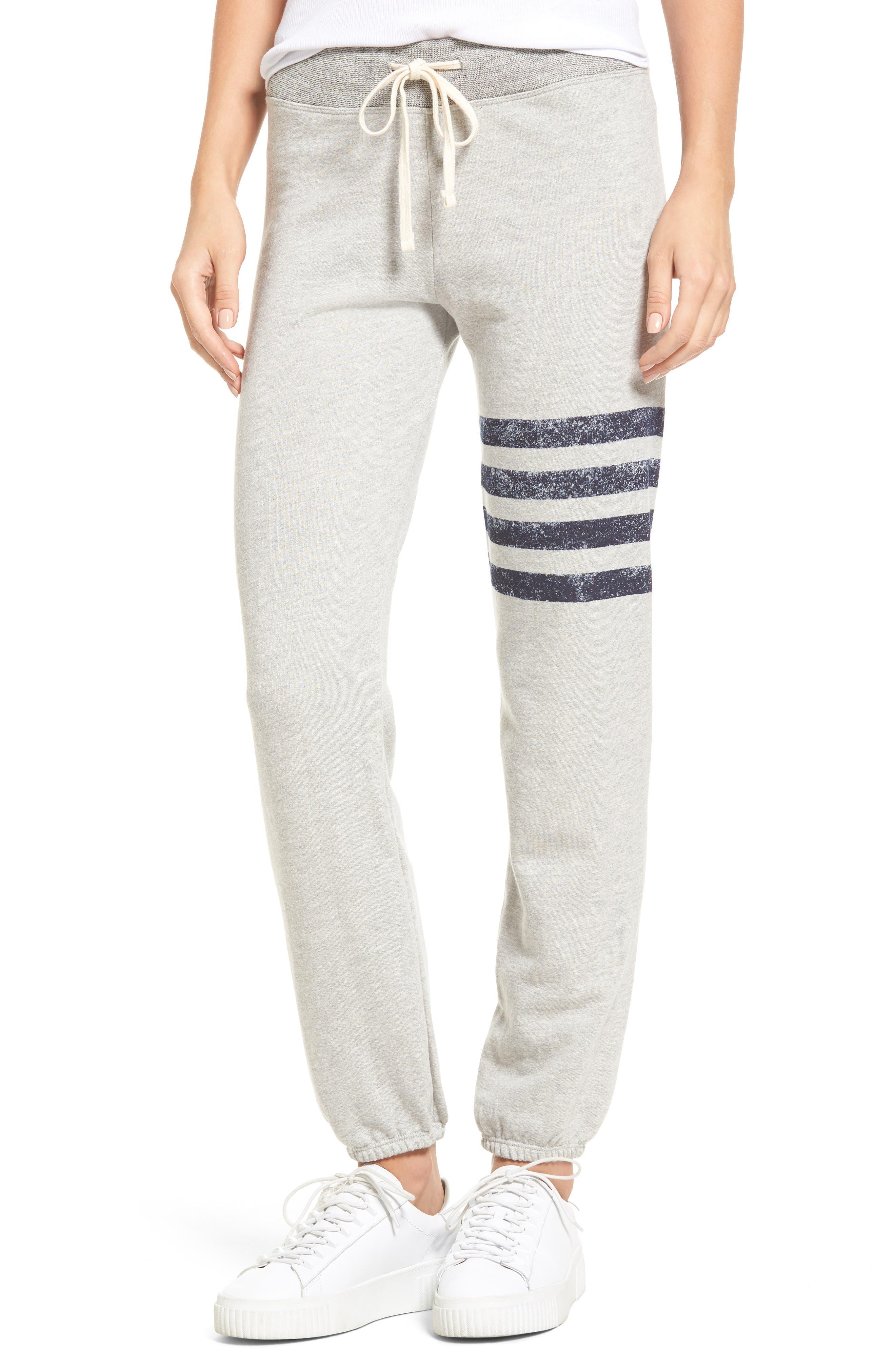Stripe Yoga Pants,                             Main thumbnail 1, color,                             Soft Black