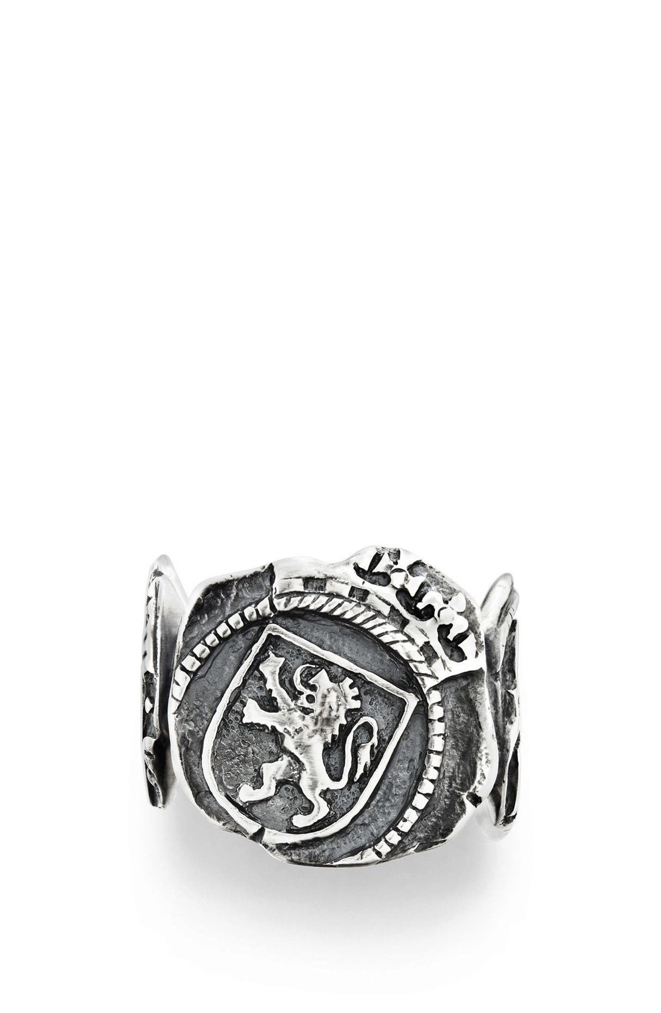 Shipwreck Signet Coin Ring, 20mm,                             Alternate thumbnail 3, color,                             Silver