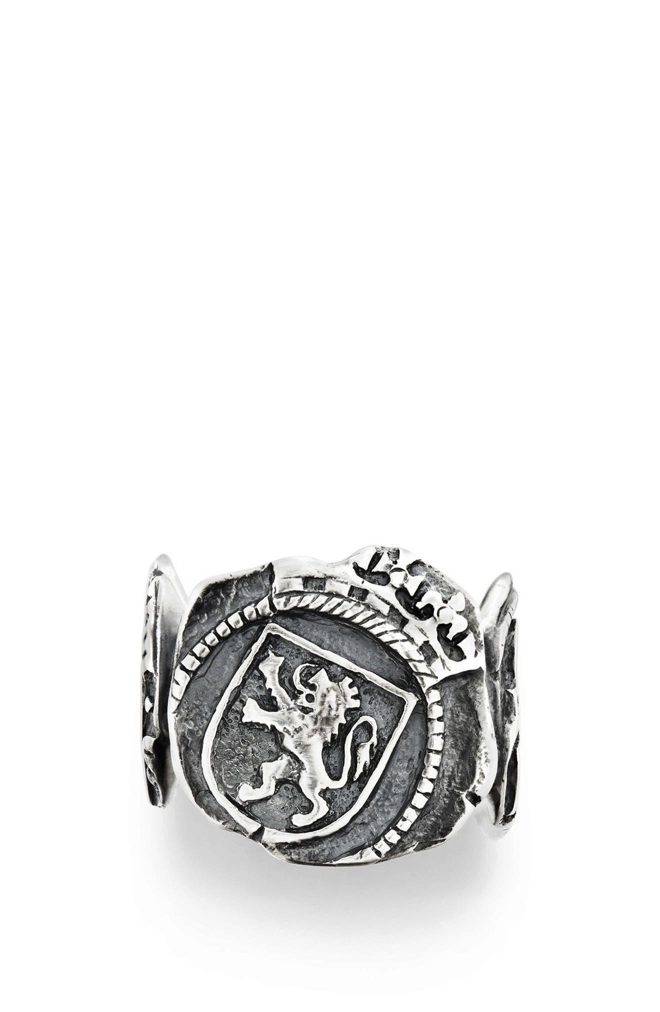 Alternate Image 3  - David Yurman Shipwreck Signet Coin Ring, 20mm