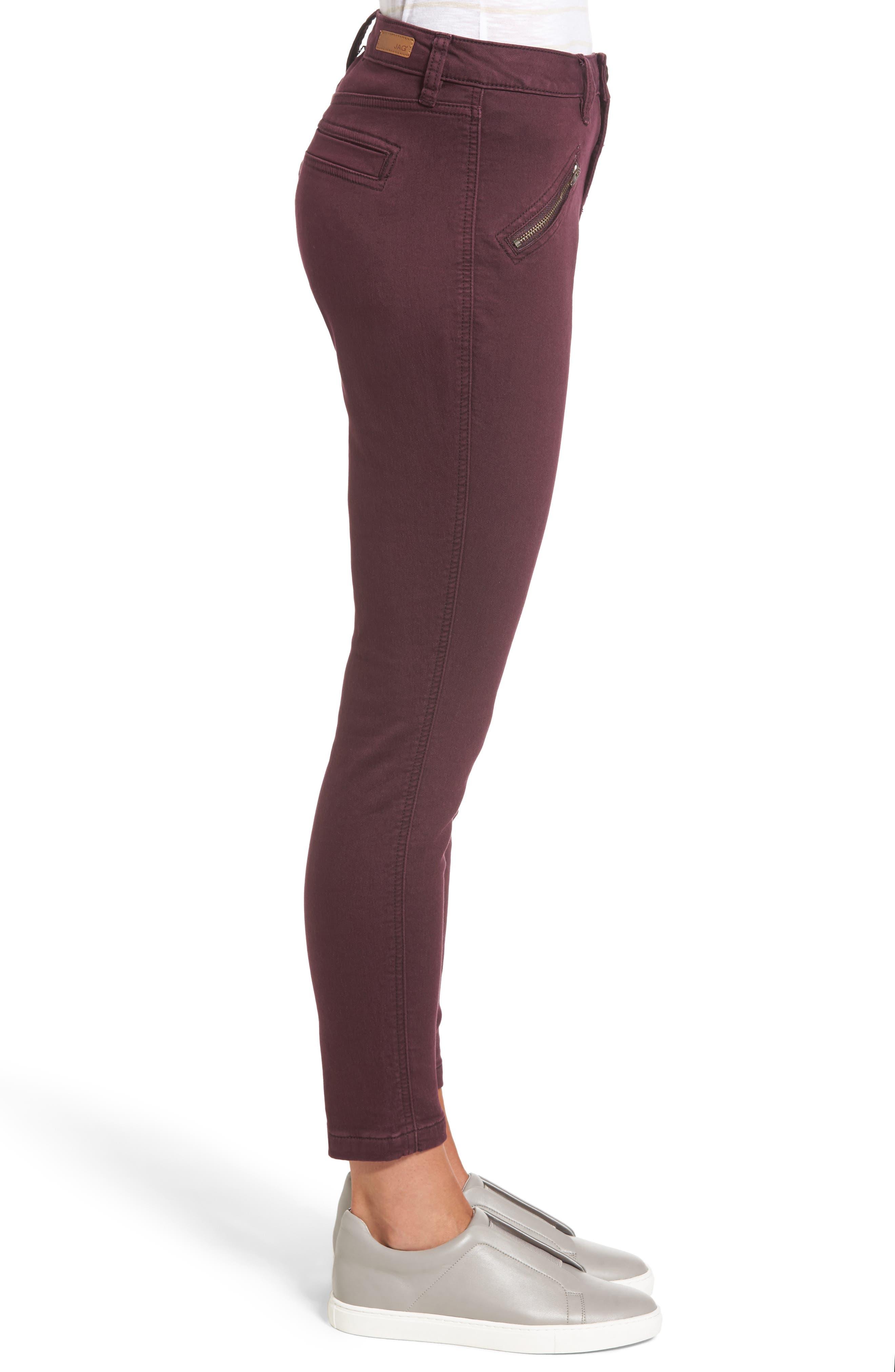 Alternate Image 3  - Jag Jeans Ryan Knit Skinny Jeans (Plum Noir)