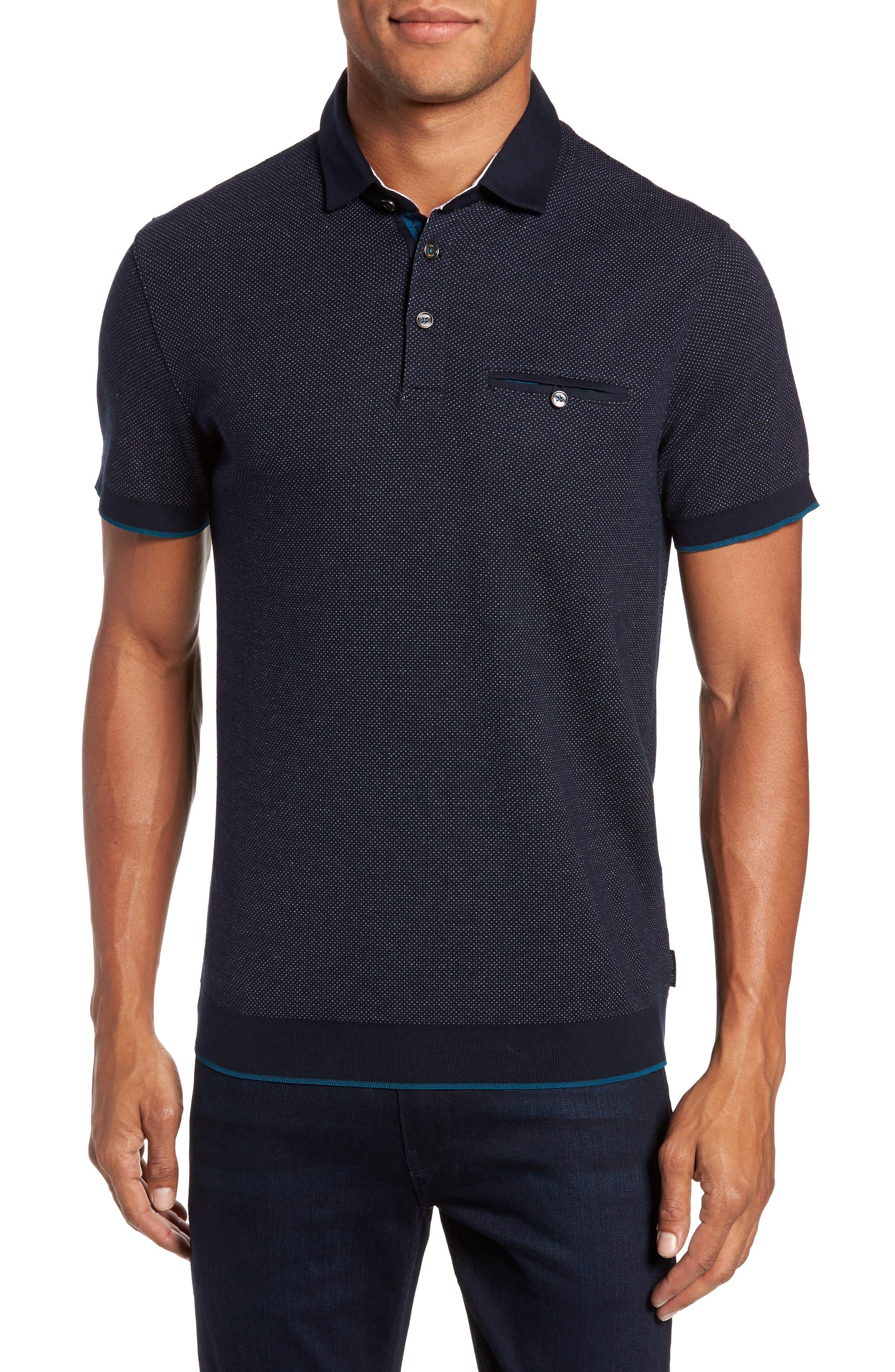 Alburt Modern Slim Fit Polo,                         Main,                         color, Navy