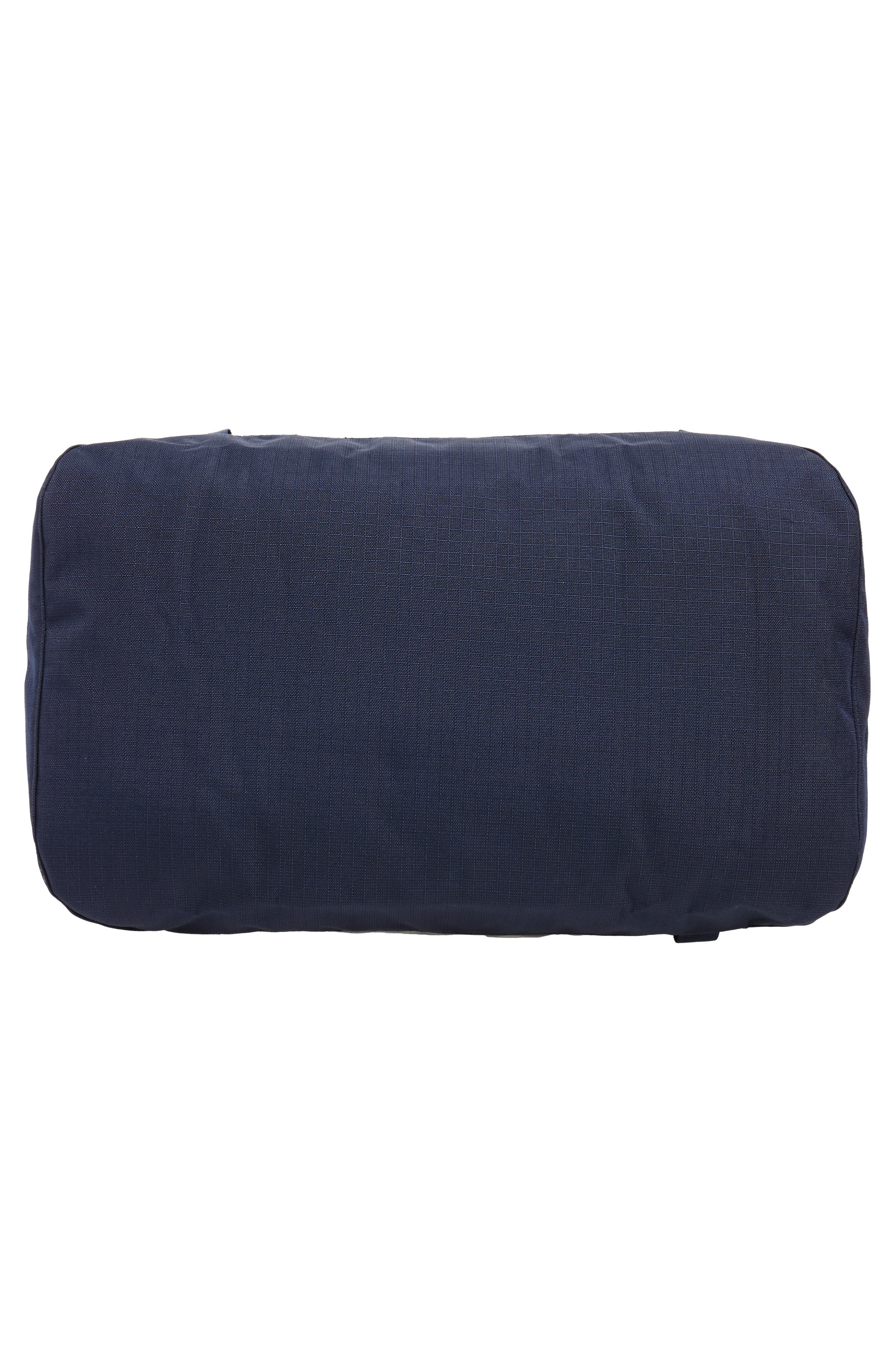 Black Hole Water Repellent Duffel Bag,                             Alternate thumbnail 5, color,                             Navy Blue W/ Paintbrush Red