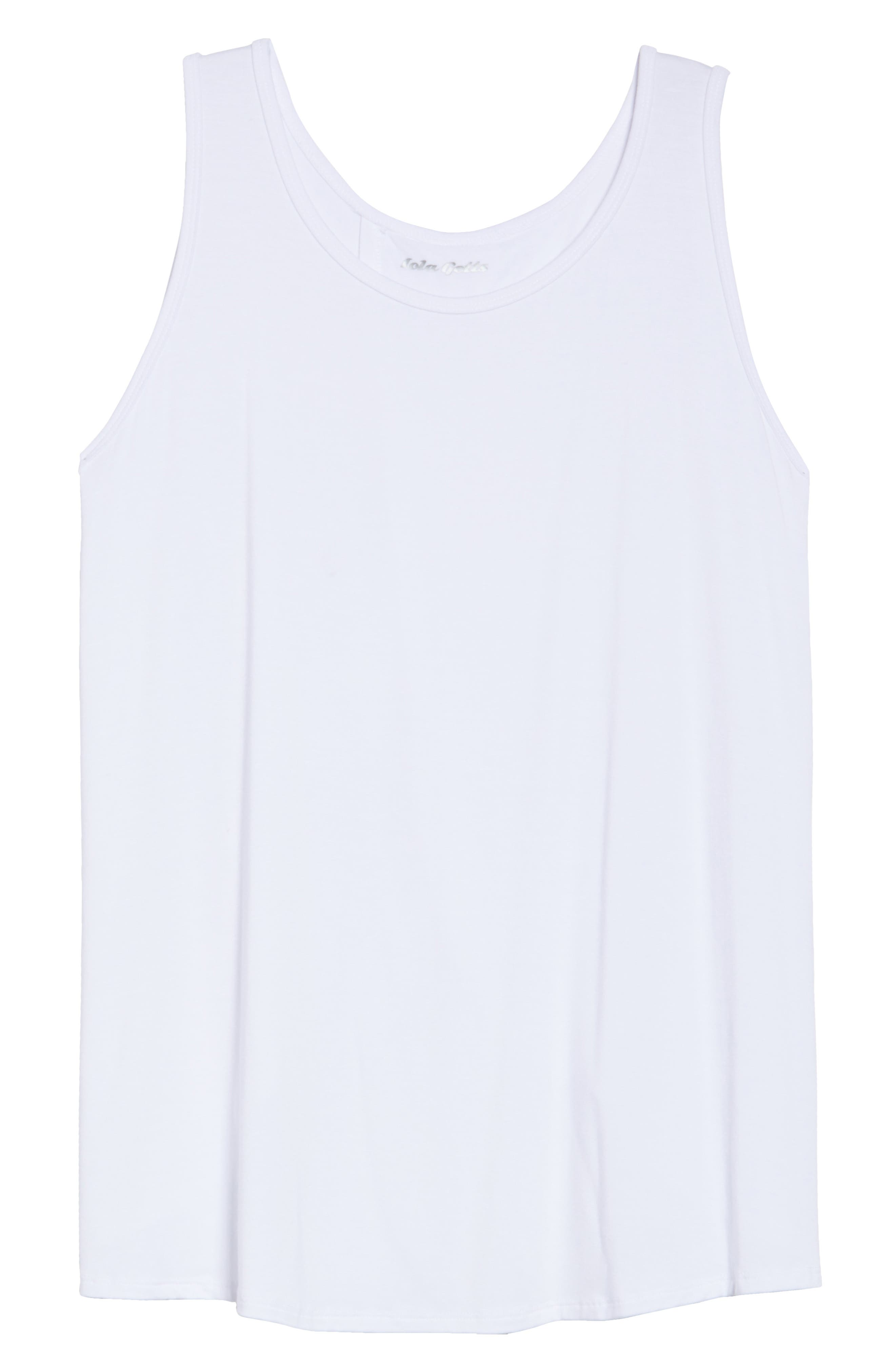 Flutter Back Tank,                             Alternate thumbnail 6, color,                             White