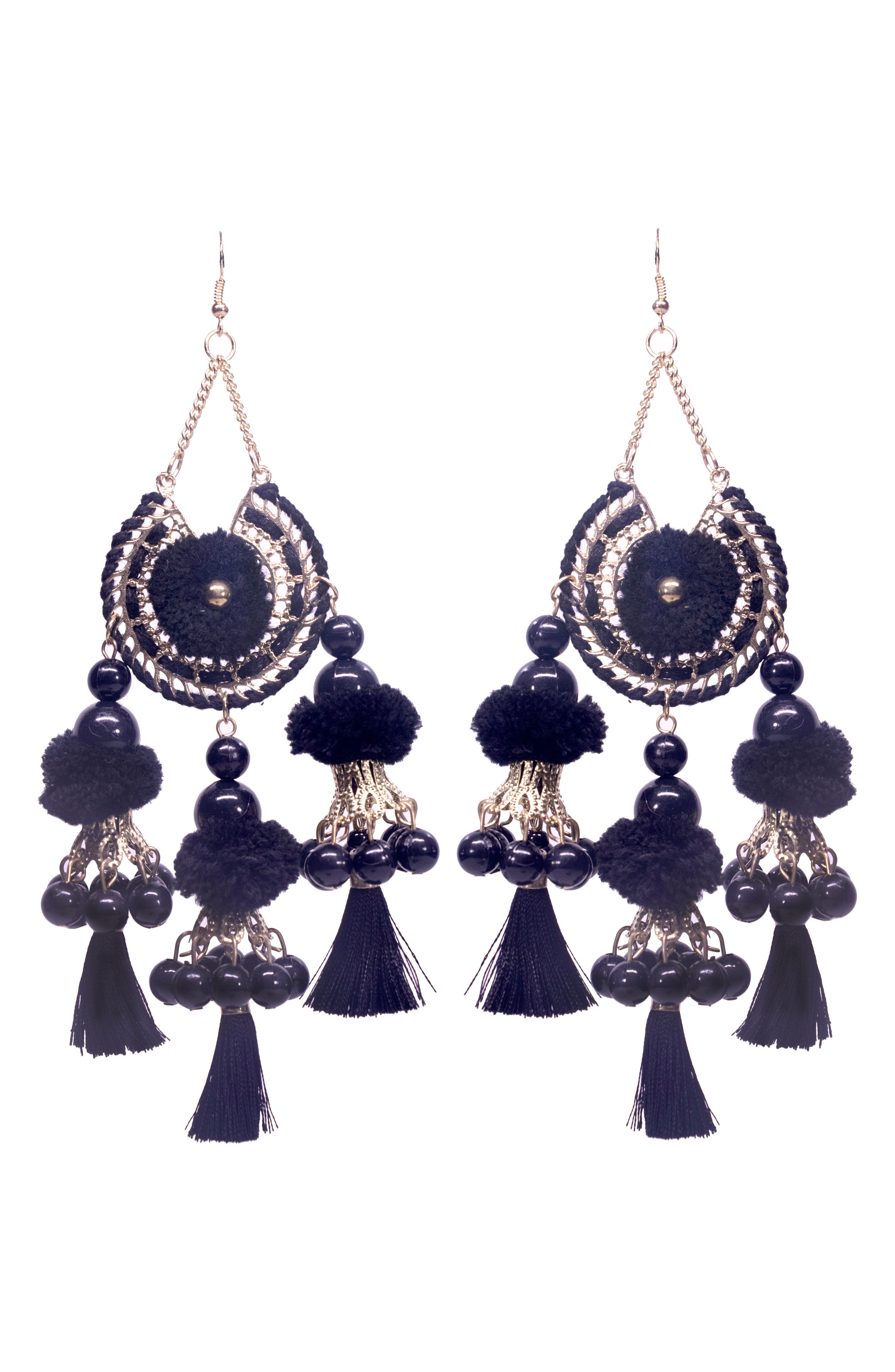 Main Image - Area Stars Reena Ball Tassel Earrings