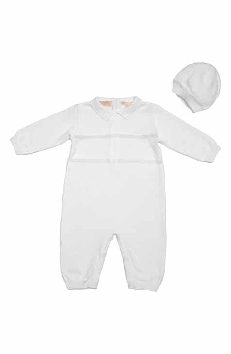 c65849b1dab9 Carriage Boutique Elegant Christening Romper   Hat Set (Baby Boys)