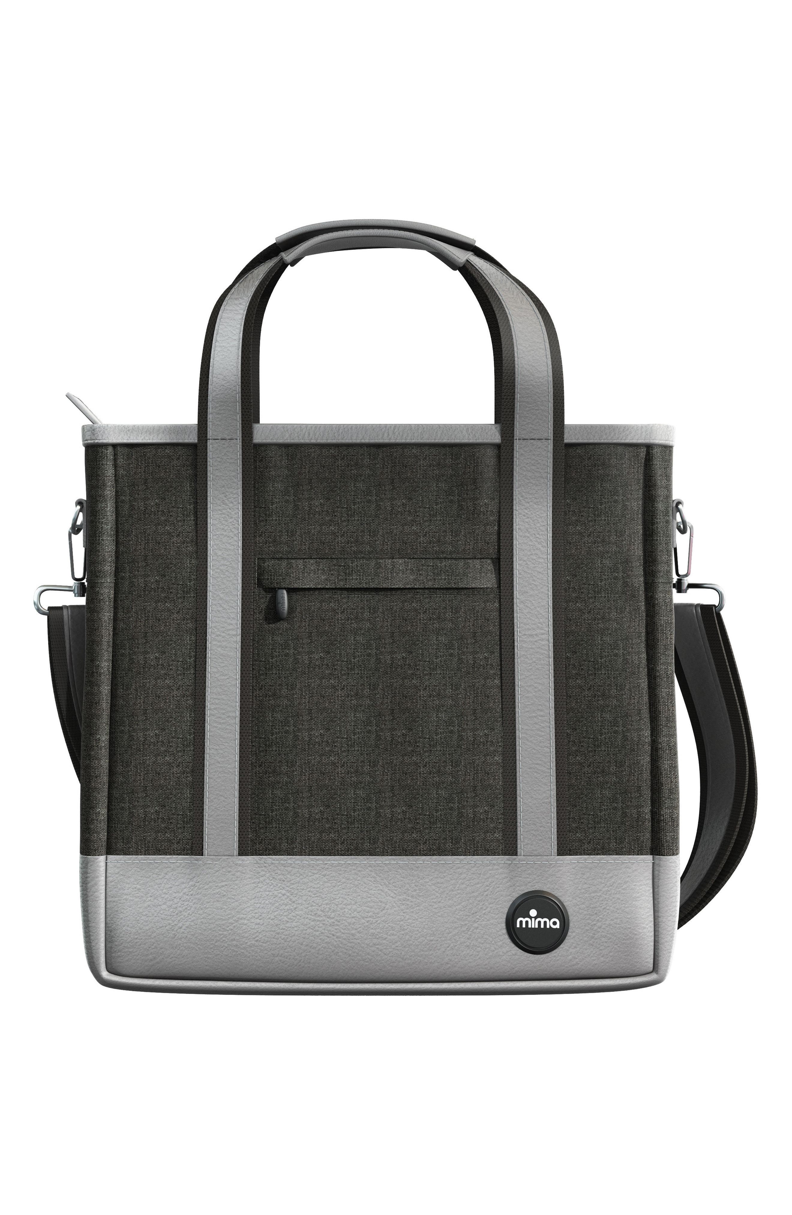 Zigi Diaper Bag,                         Main,                         color, Charcoal