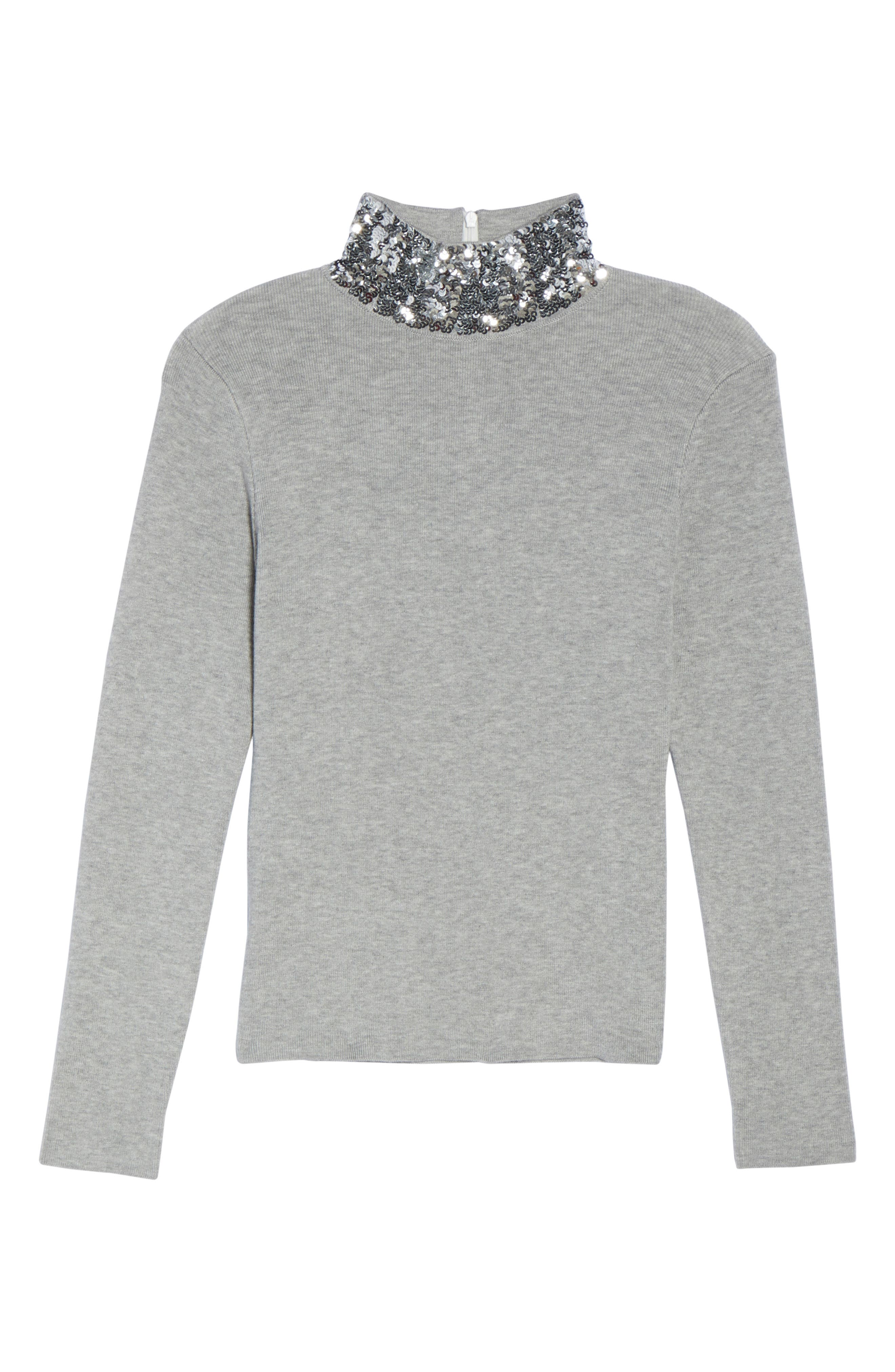 Alternate Image 7  - Eliza J Sequin Mock Neck Sweater