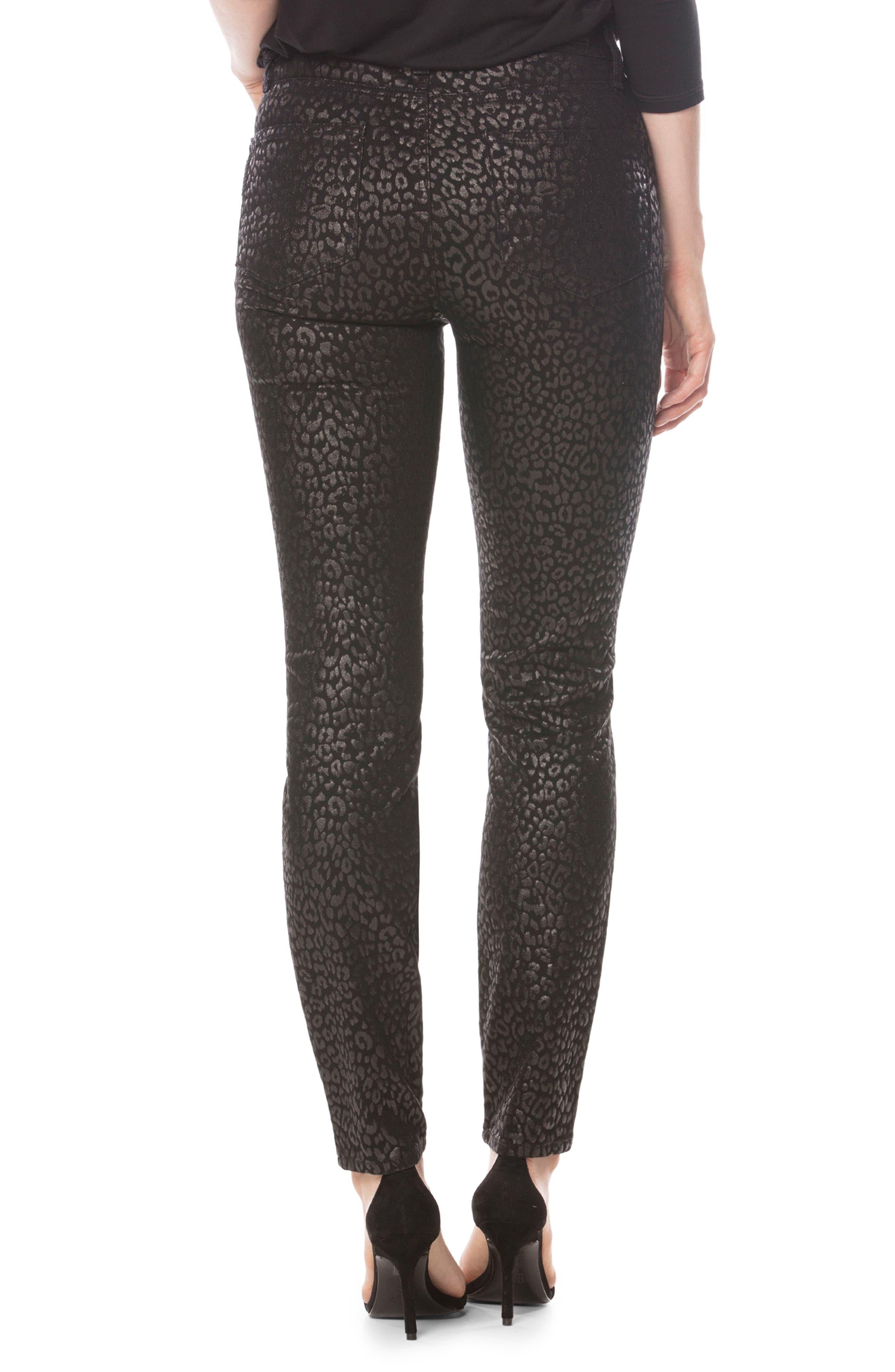 Alternate Image 2  - PAIGE Hoxton High Waist Ultra Skinny Pants (Metallic Leopard Noir)