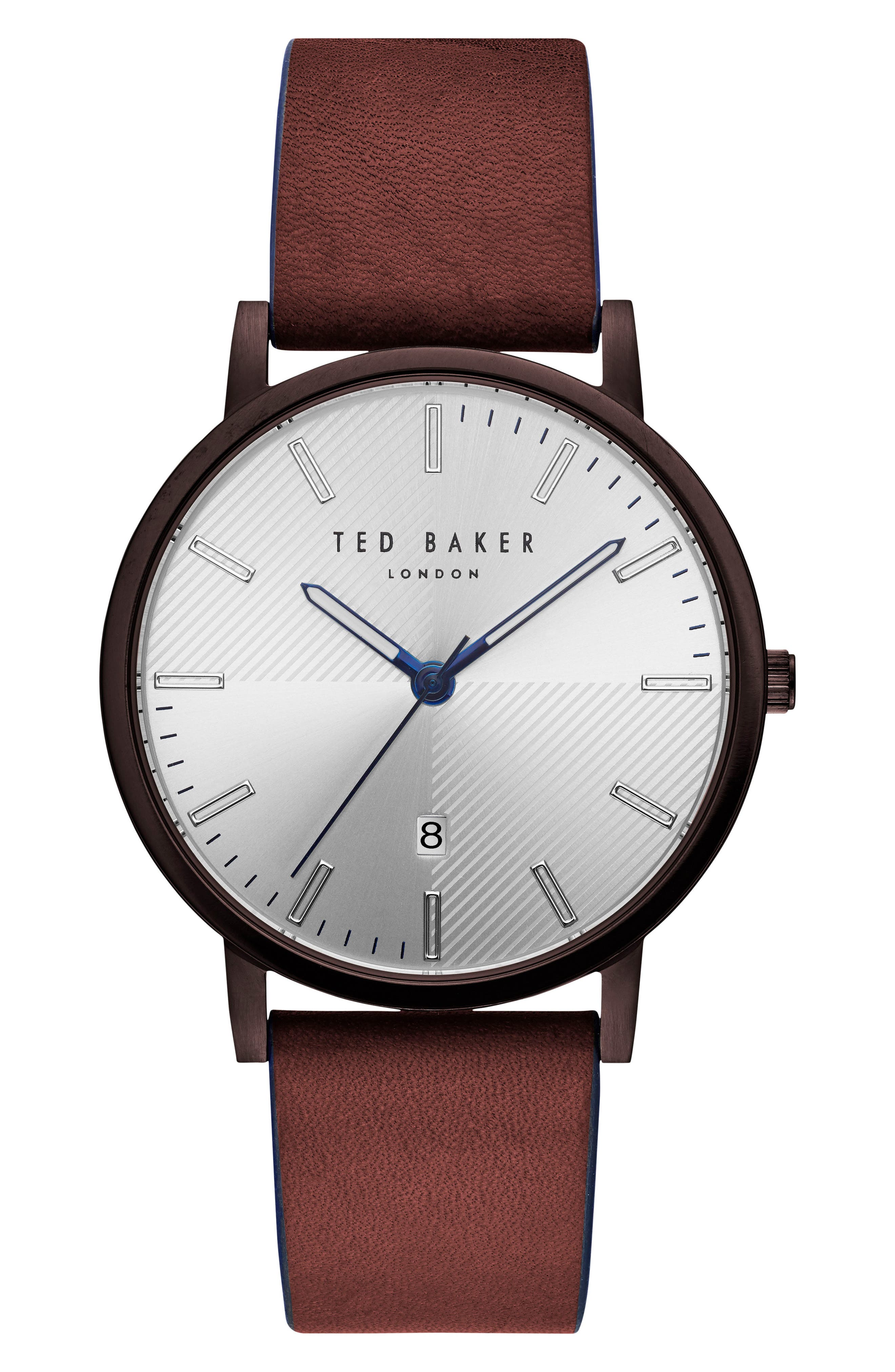 Main Image - Ted Baker London Dean Leather Strap Watch, 40mm