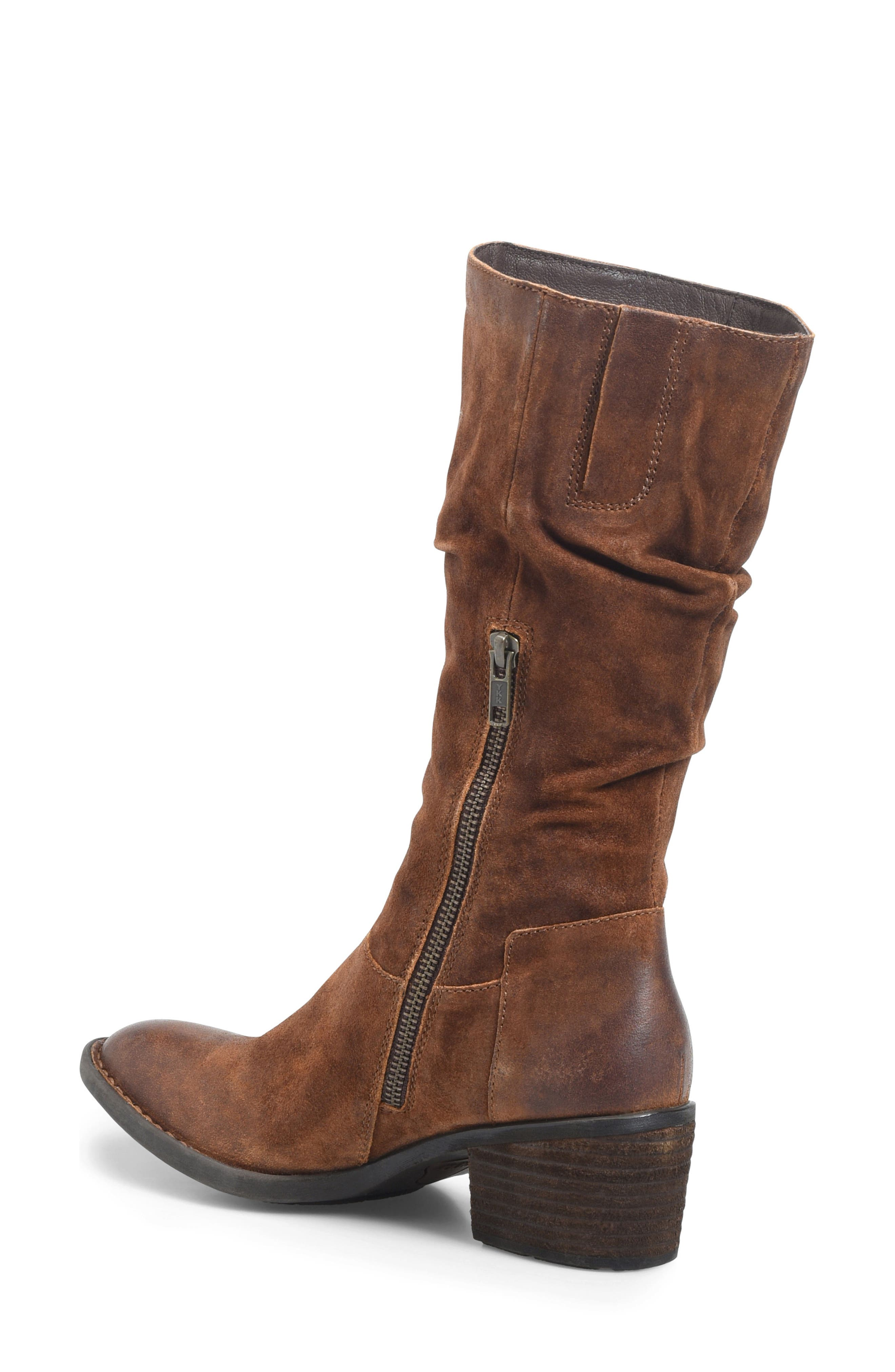 Peavy Slouch Boot,                             Alternate thumbnail 2, color,                             Rust Distressed Leather