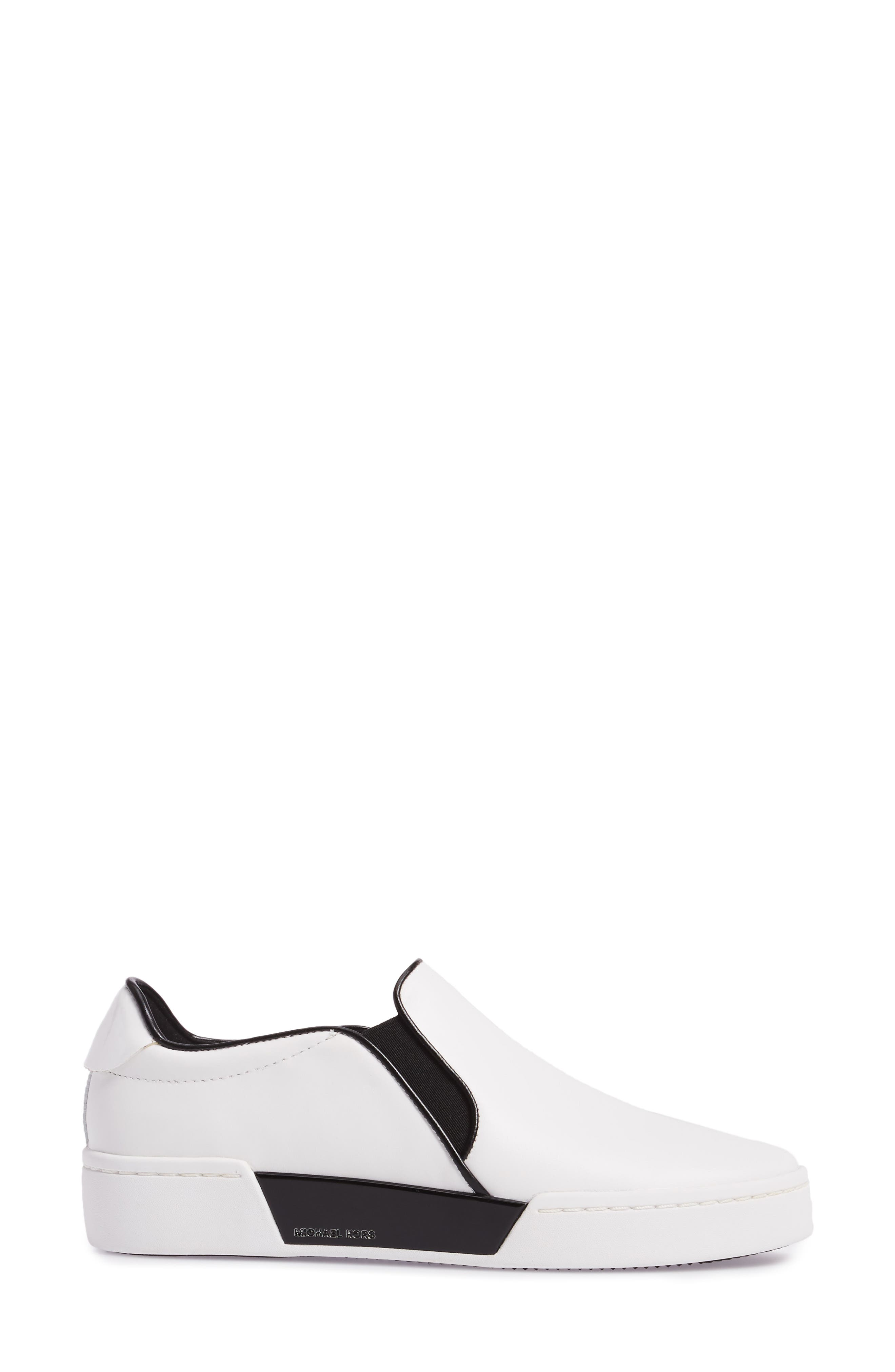Brenden Slip-On,                             Alternate thumbnail 3, color,                             Optic White