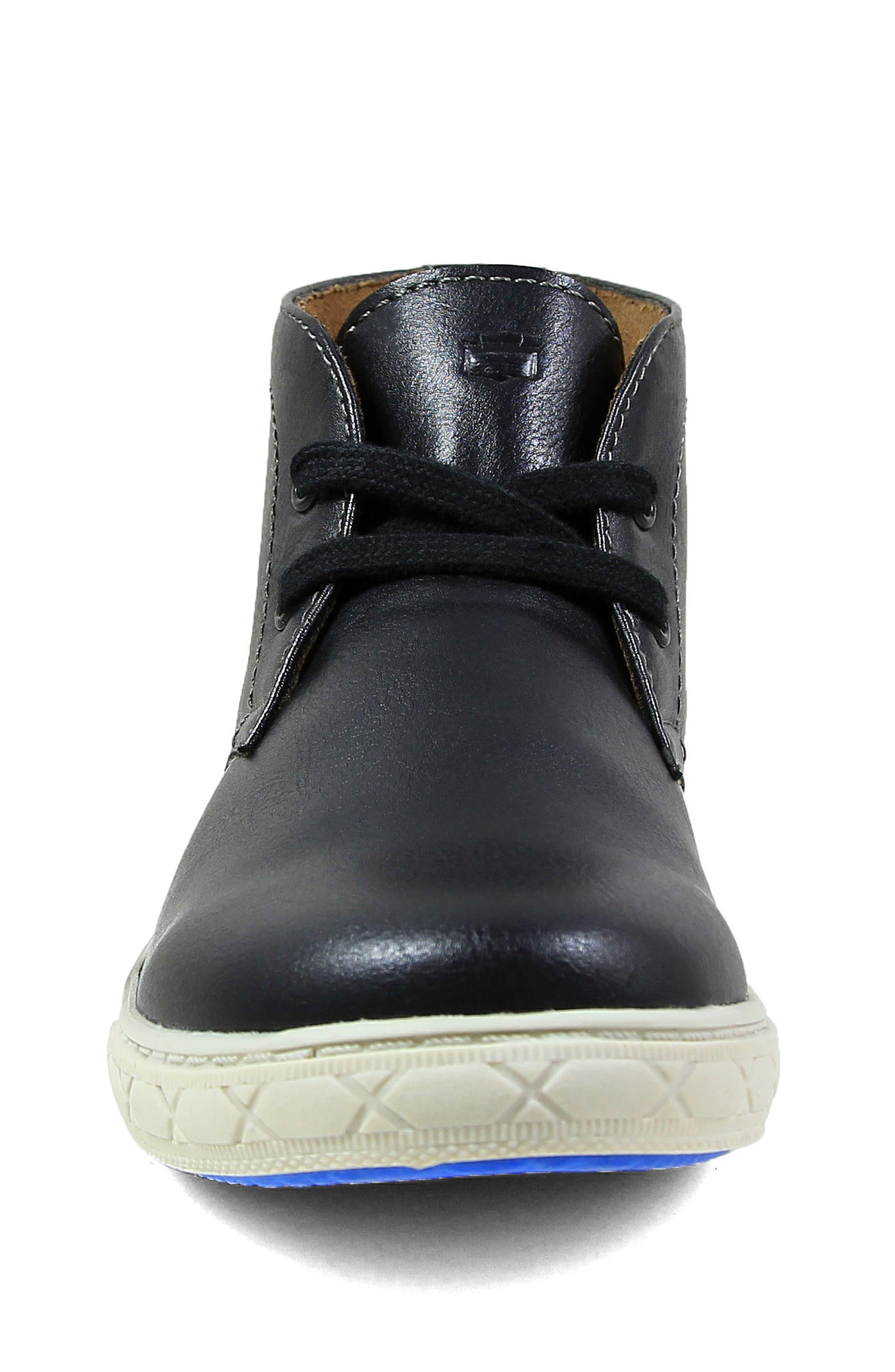 Curb Chukka Sneaker Boot,                             Alternate thumbnail 4, color,                             Black